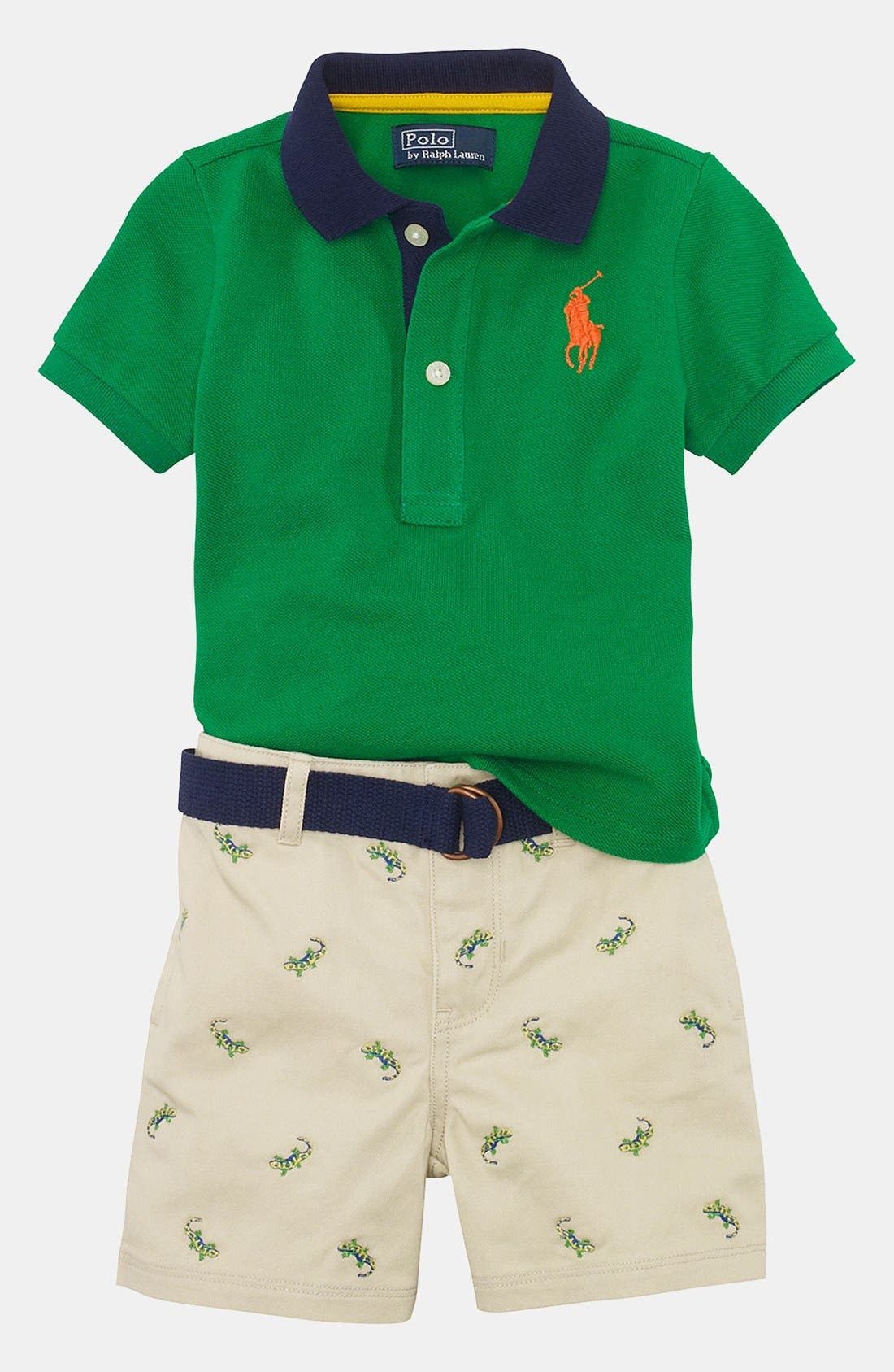 Alternate Image 2  - Ralph Lauren Polo & Shorts (Baby)