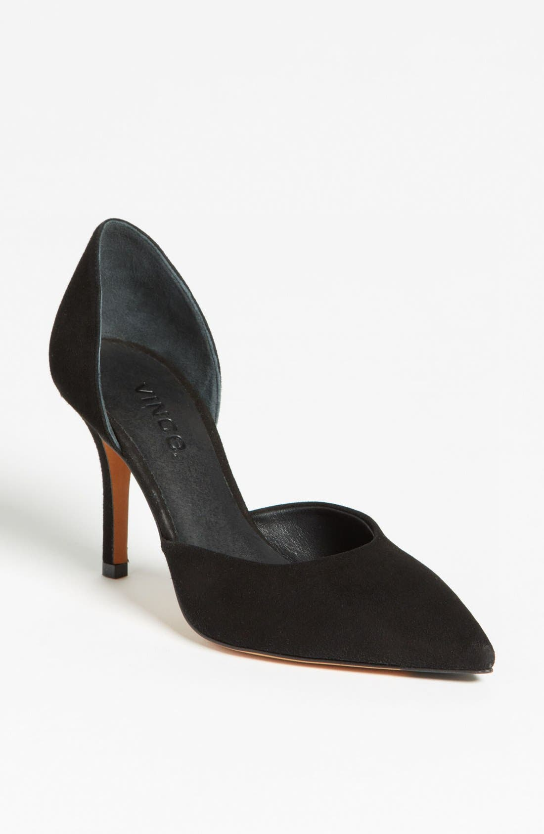 Alternate Image 1 Selected - Vince 'Celeste' Suede Pointy Toe Pump (Women)