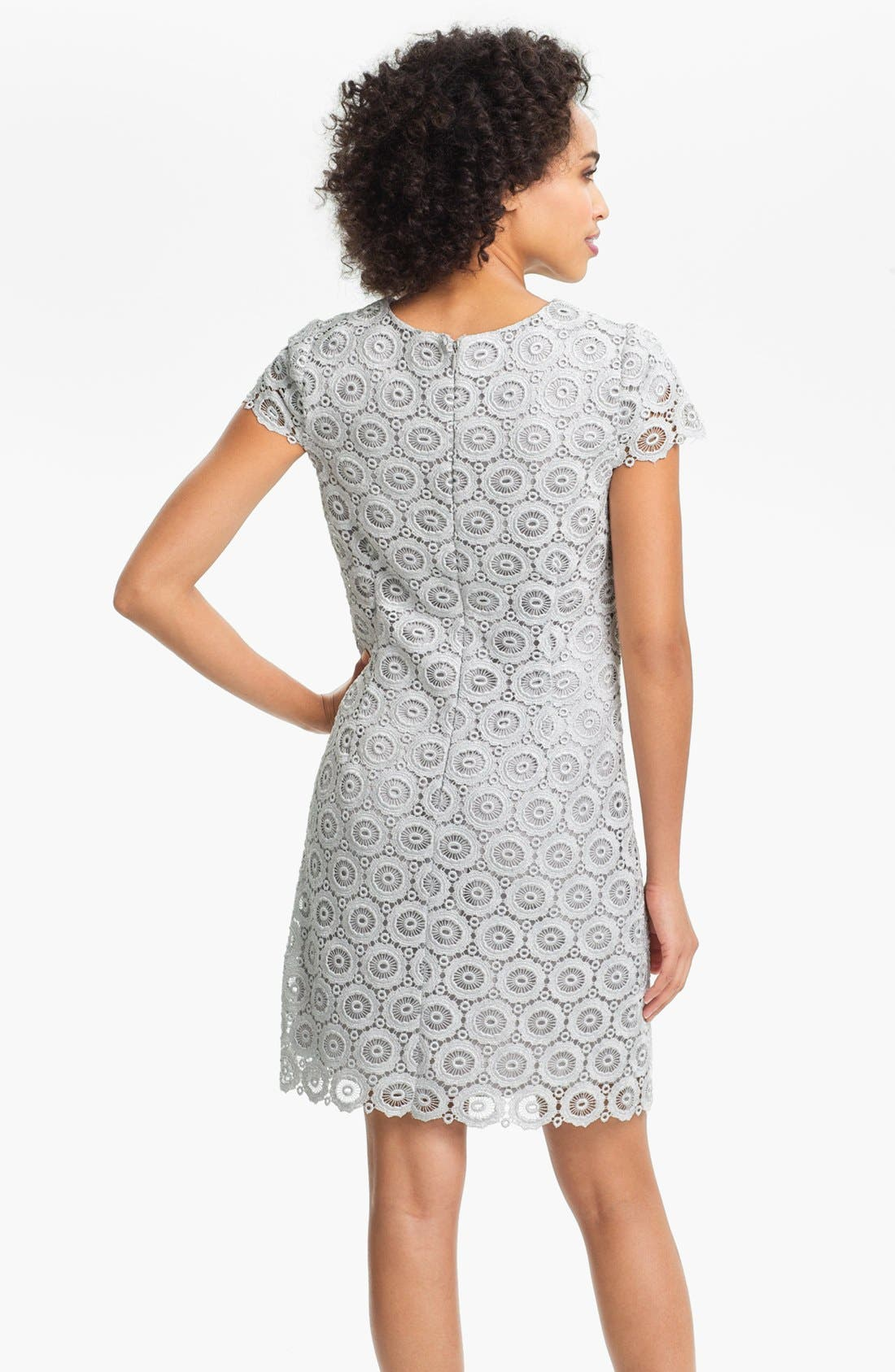 Alternate Image 2  - Suzi Chin for Maggy Boutique Lace Shift Dress (Petite)