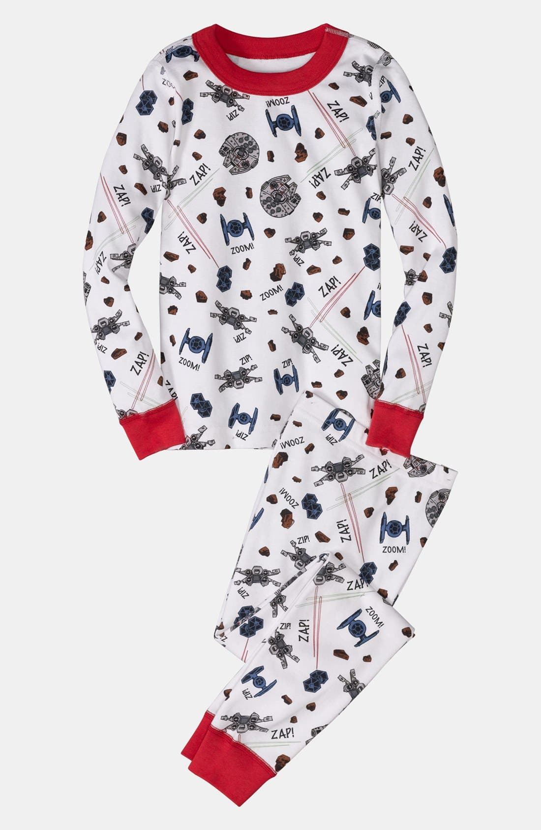 Alternate Image 1 Selected - Hanna Andersson Two Piece Fitted Pajamas (Little Boys & Big Boys)