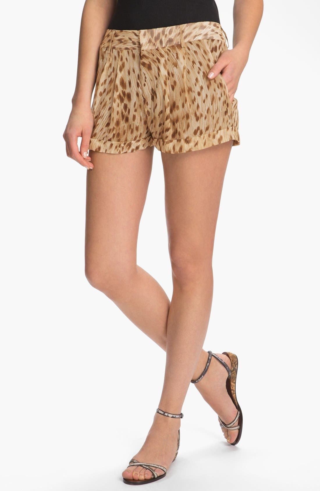 Alternate Image 1 Selected - Haute Hippie Leopard Print Shorts
