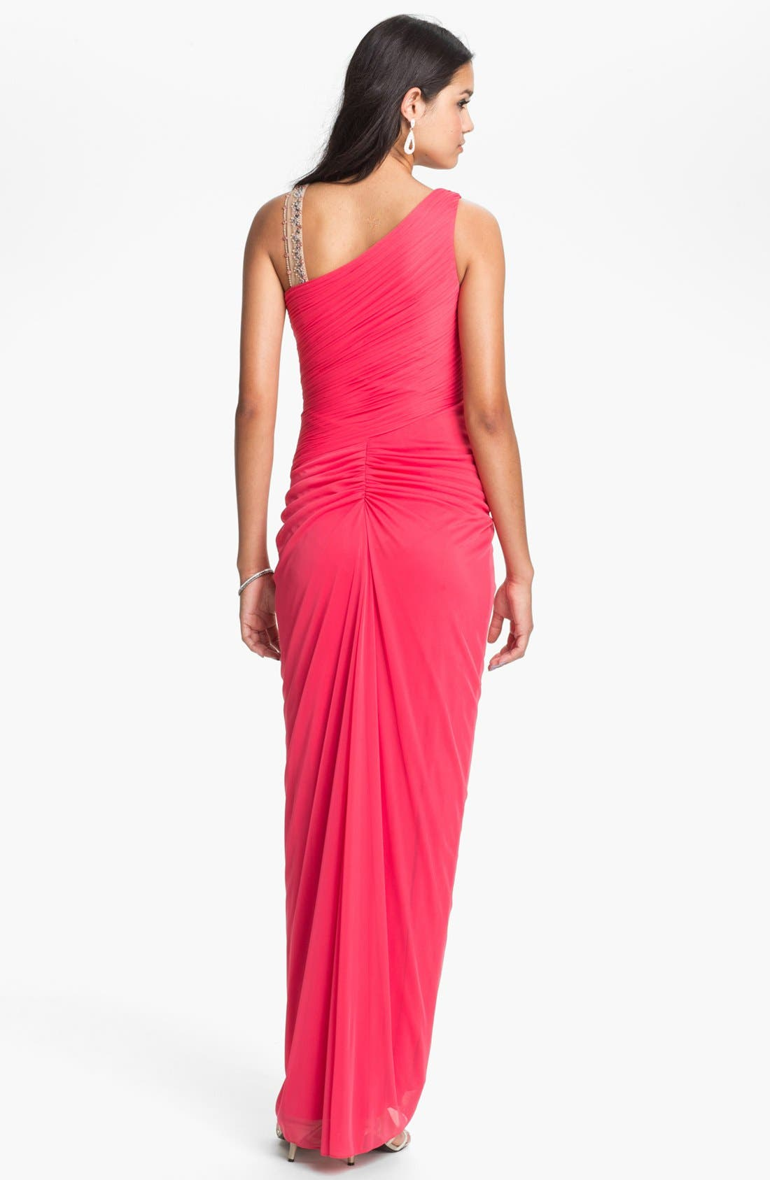 Alternate Image 2  - Adrianna Papell Embellished Mesh Gown (Petite)
