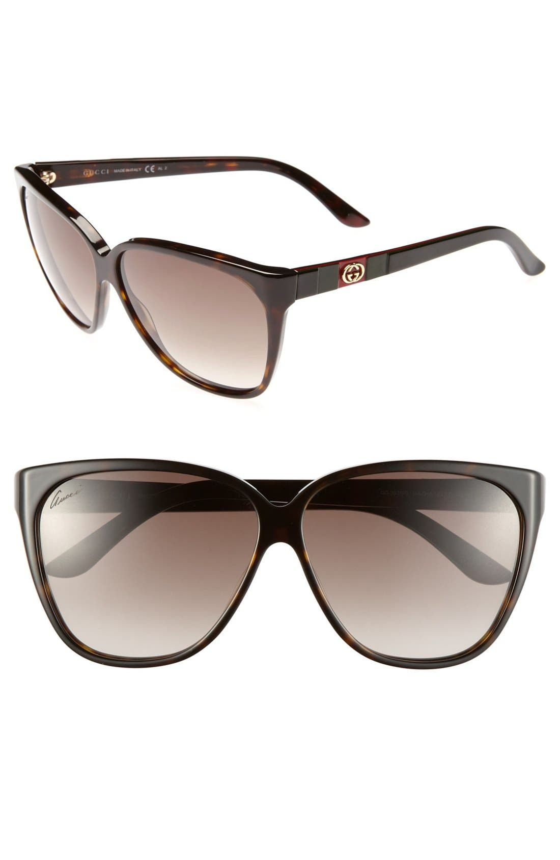 Alternate Image 1 Selected - Gucci 62mm Sunglasses