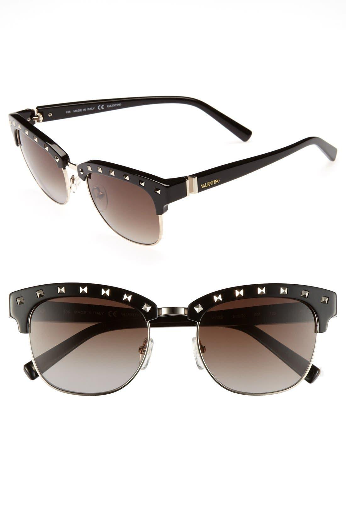 Main Image - Valentino 'Rockstud' Sunglasses (Online Only)