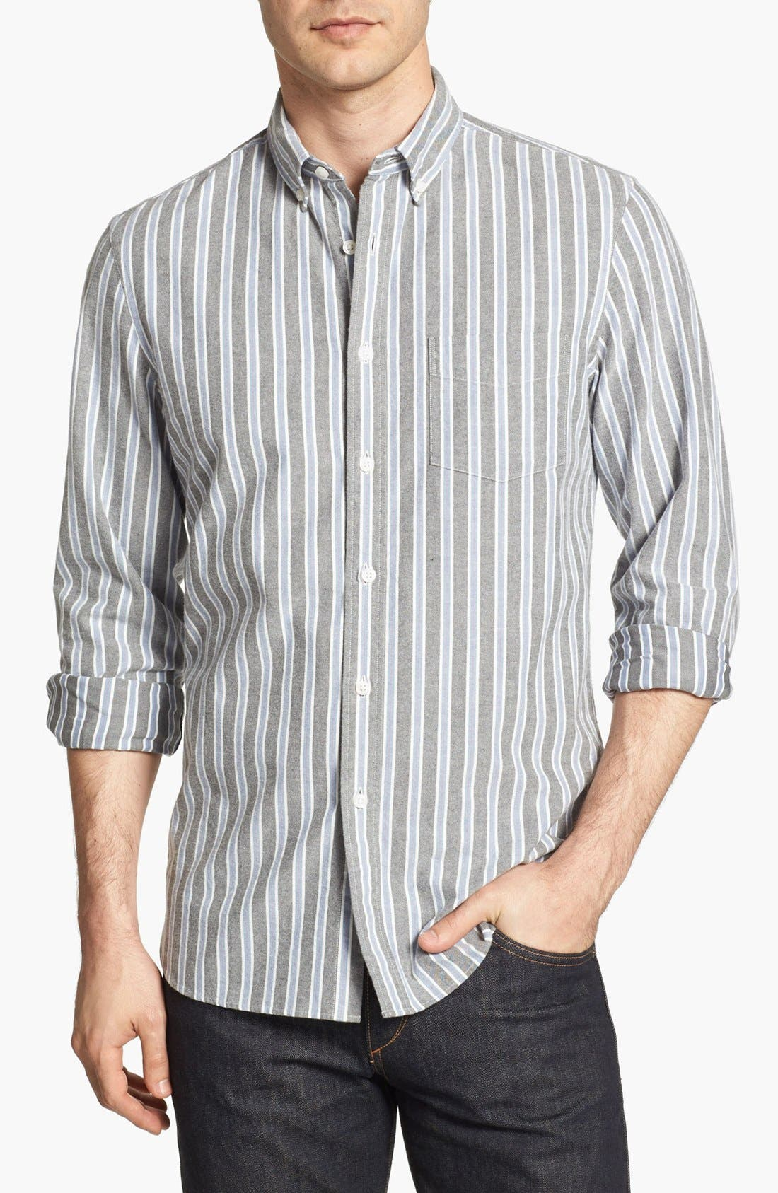 Alternate Image 1 Selected - Wallin & Bros. Trim Fit Sport Shirt (Online Exclusive)