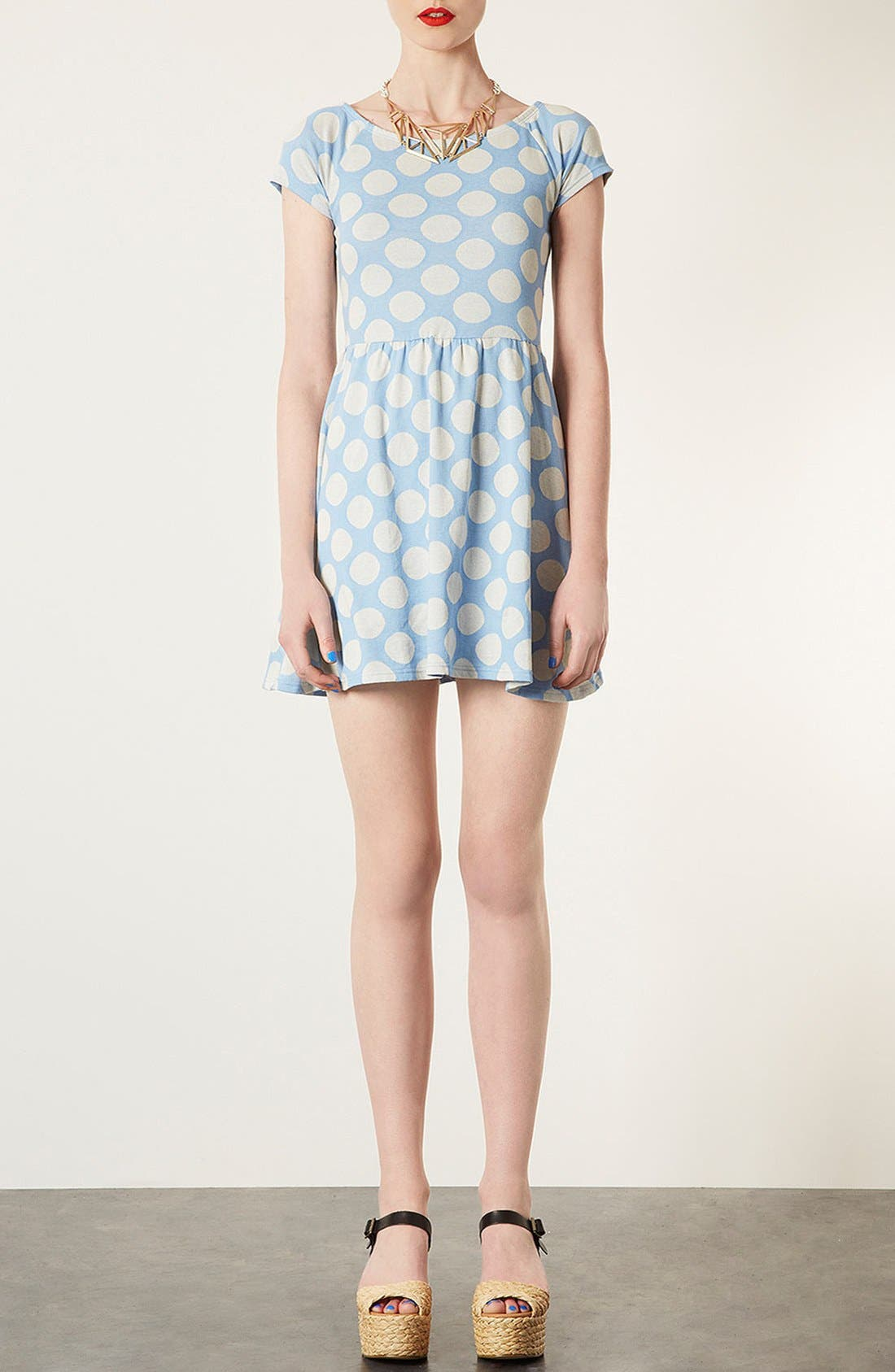 Main Image - Topshop Polka Dot Tunic Dress