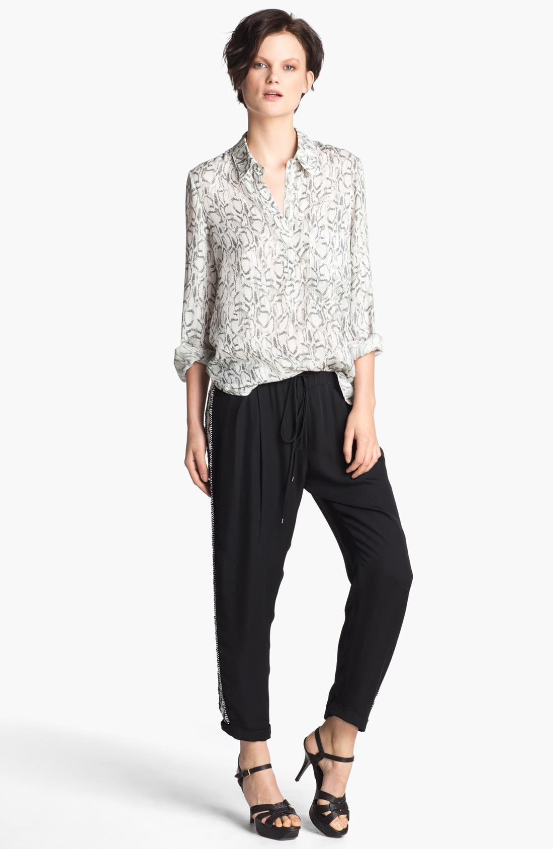 Alternate Image 6  - Haute Hippie Beaded Silk Trousers