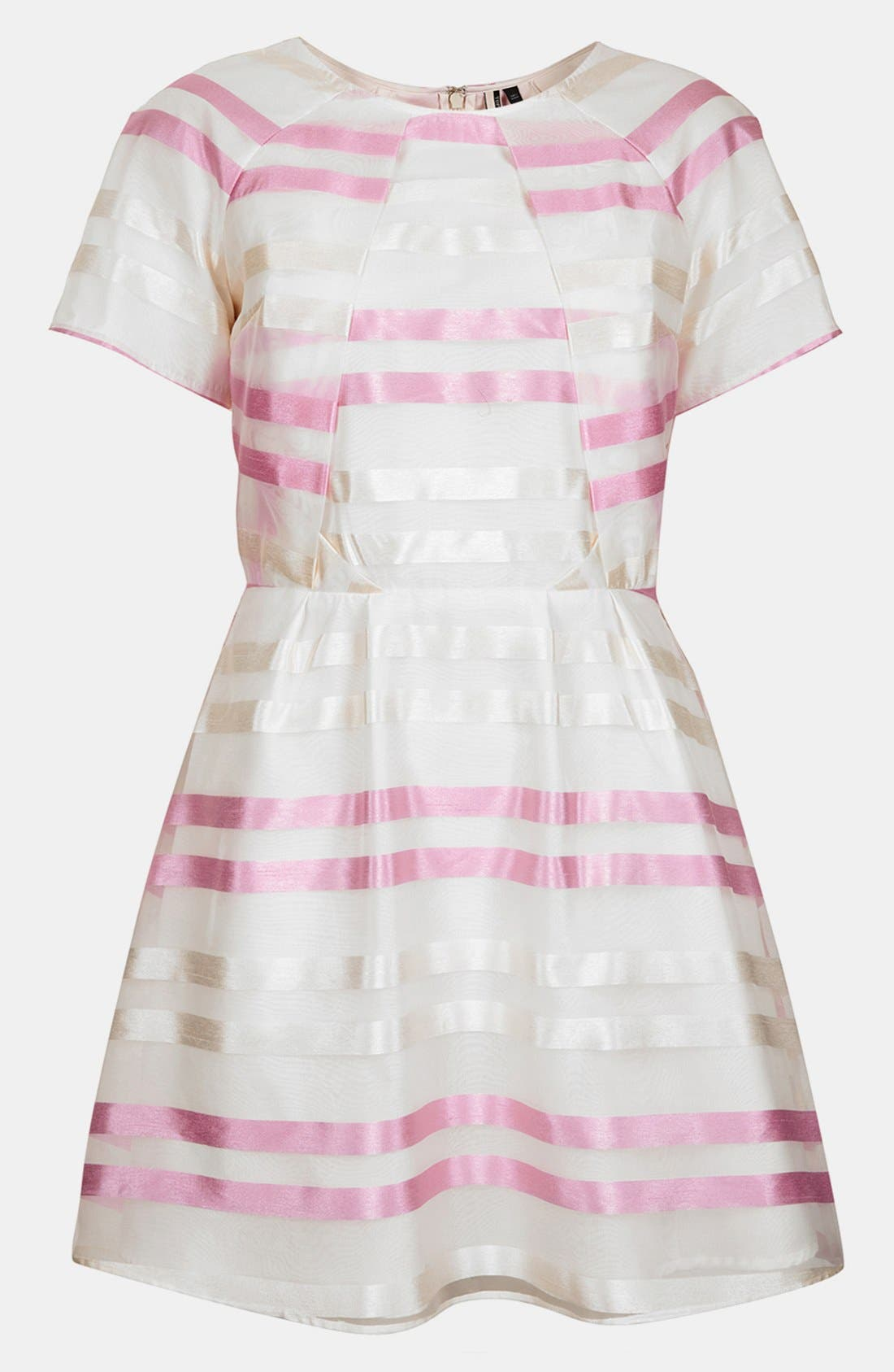 Alternate Image 2  - Topshop 'Candy Stripe Origami' Skater Dress