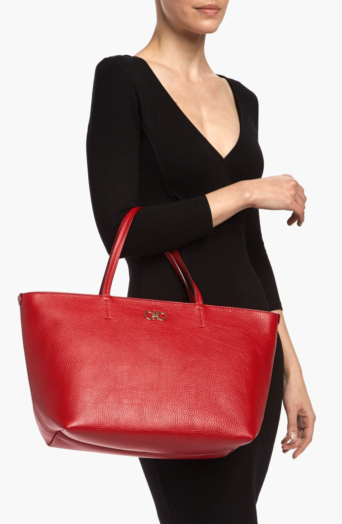 Alternate Image 2  - Salvatore Ferragamo 'Bice' Leather Tote