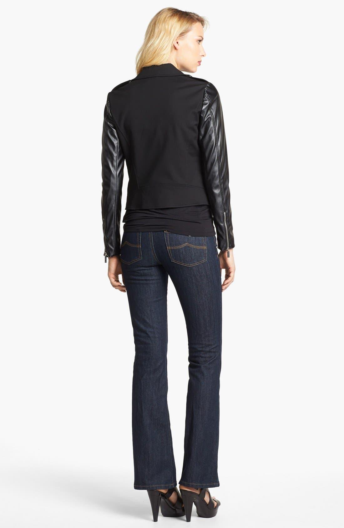 Alternate Image 4  - MICHAEL Michael Kors Knit & Faux Leather Moto Jacket
