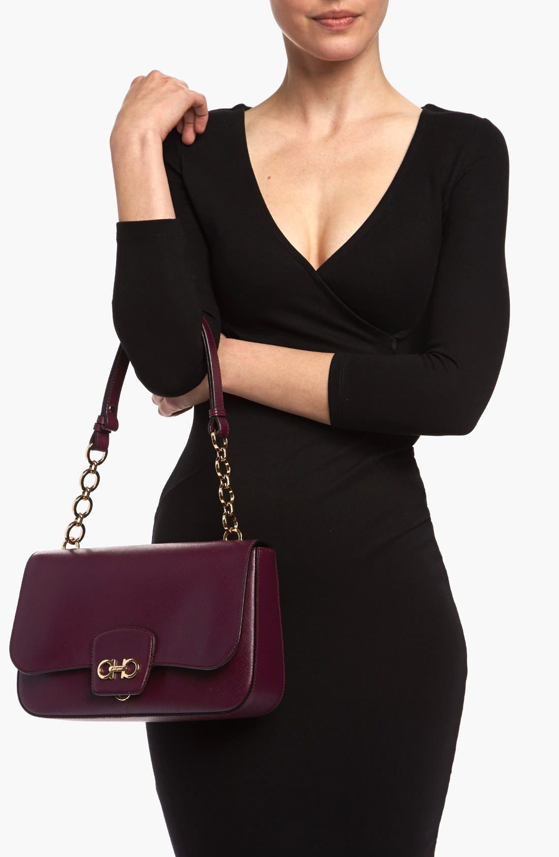 Alternate Image 2  - Salvatore Ferragamo 'Bree' Leather Shoulder Bag