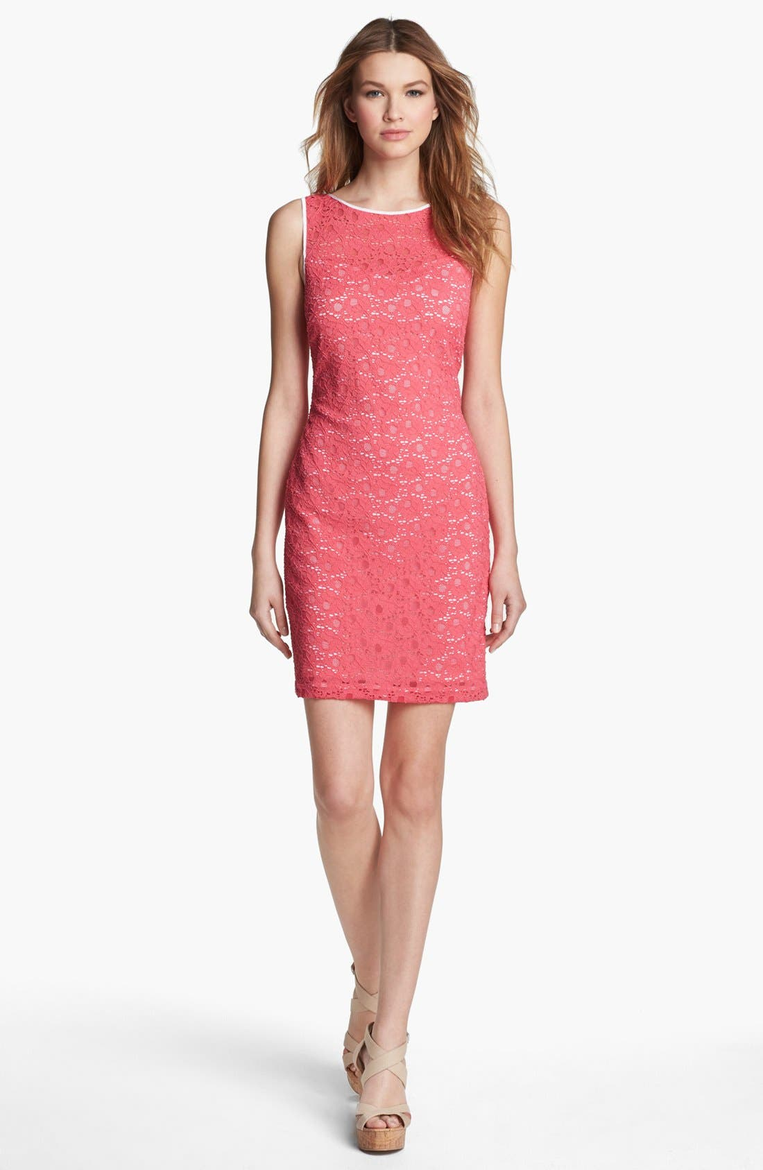 Main Image - Marc New York by Andrew Marc Sleeveless Lace Sheath Dress
