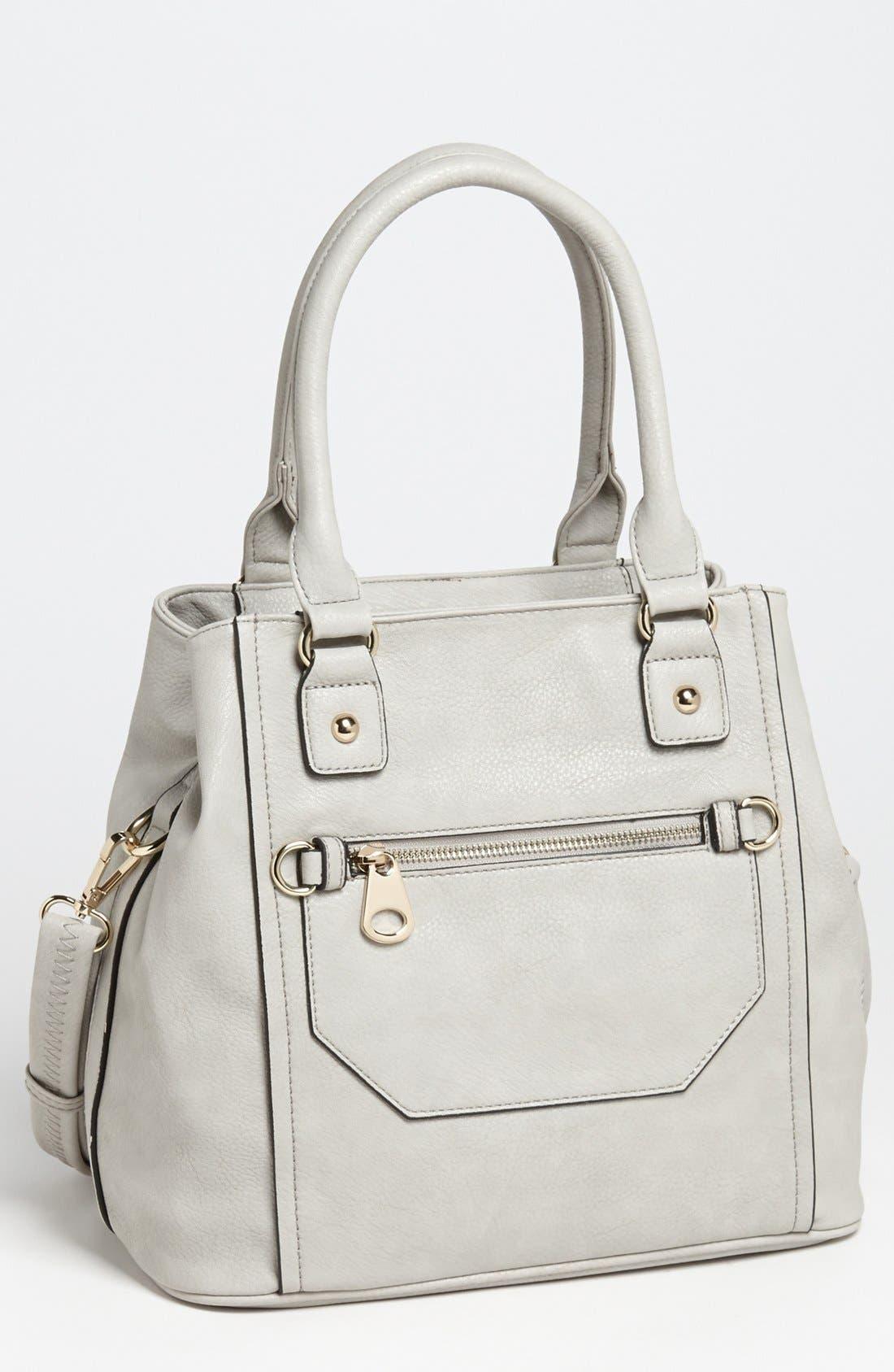 Alternate Image 1 Selected - Emperia Zip Front Faux Leather Shoulder Bag
