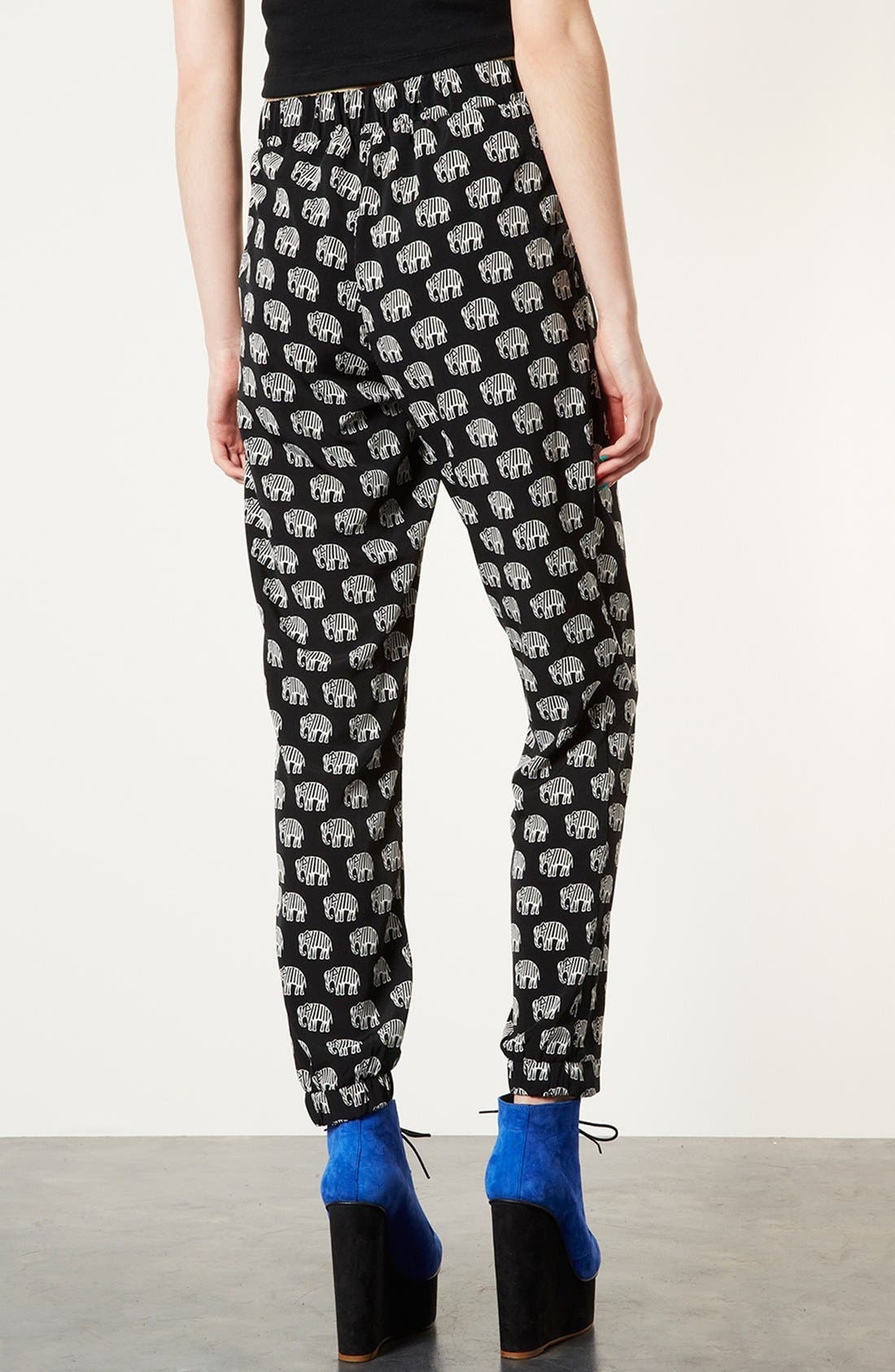Alternate Image 2  - Topshop Elephant Print Pants