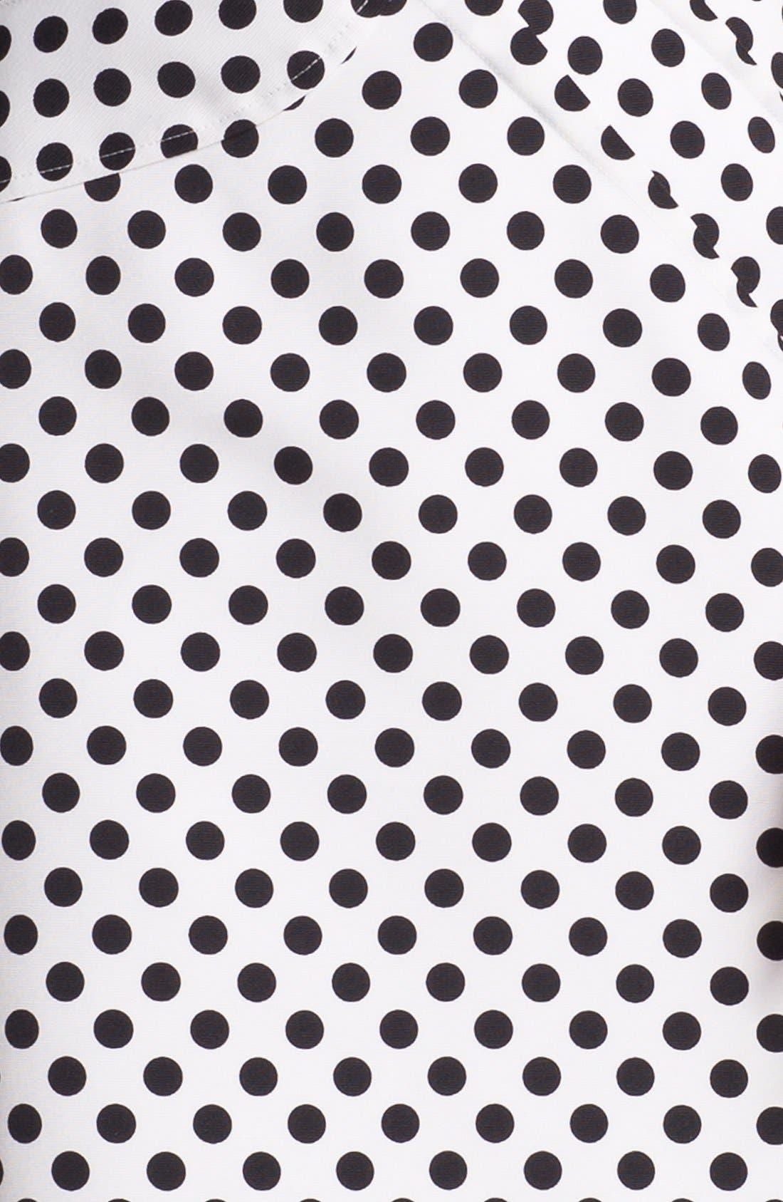 Alternate Image 3  - Adrianna Papell Pleated Polka Dot Sheath Dress (Regular & Petite)