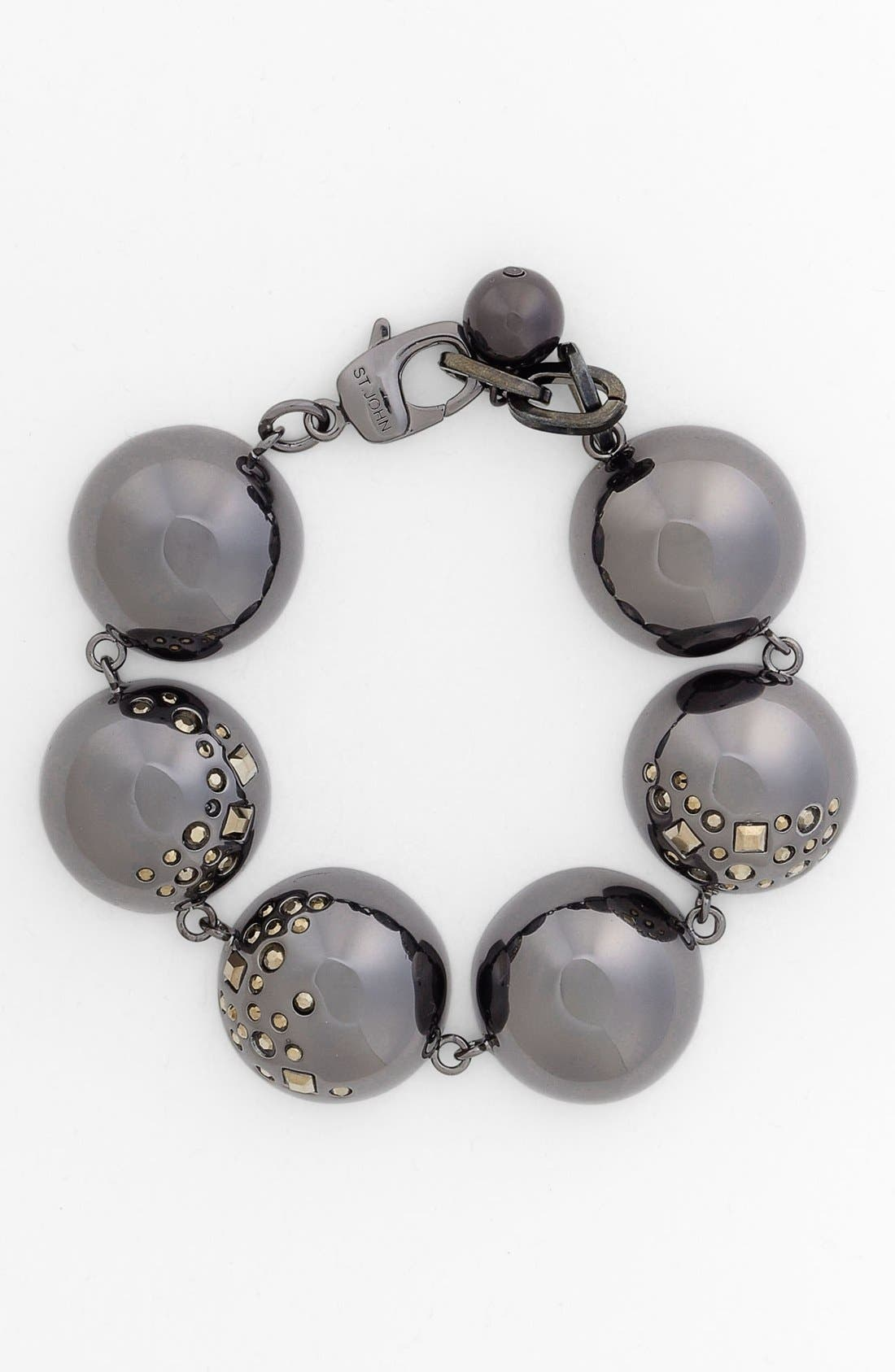 Alternate Image 1 Selected - St. John Collection Crystal Accent Bead Bracelet