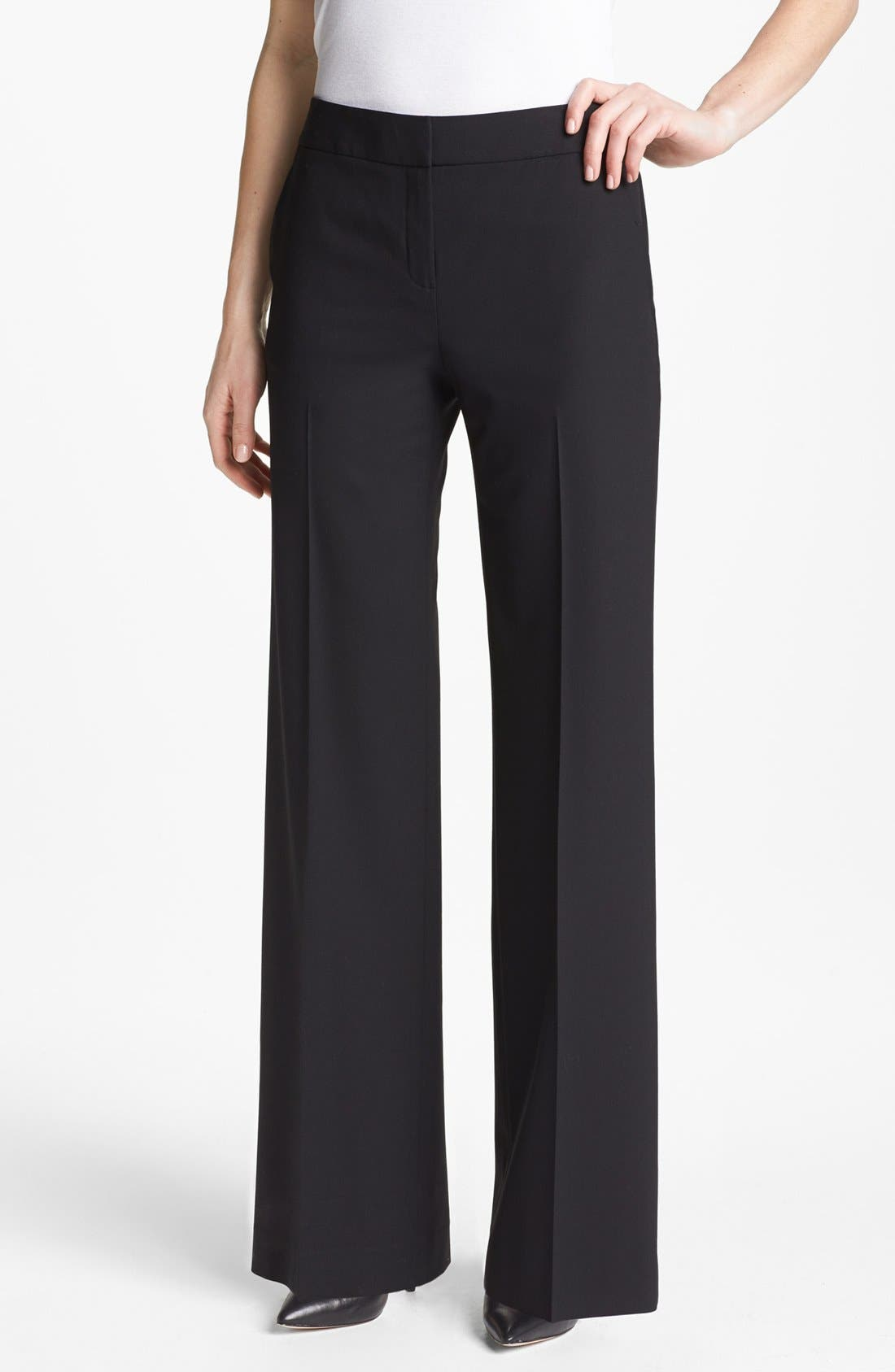 Main Image - Lafayette 148 New York 'Delancey' Stretch Wool Pants