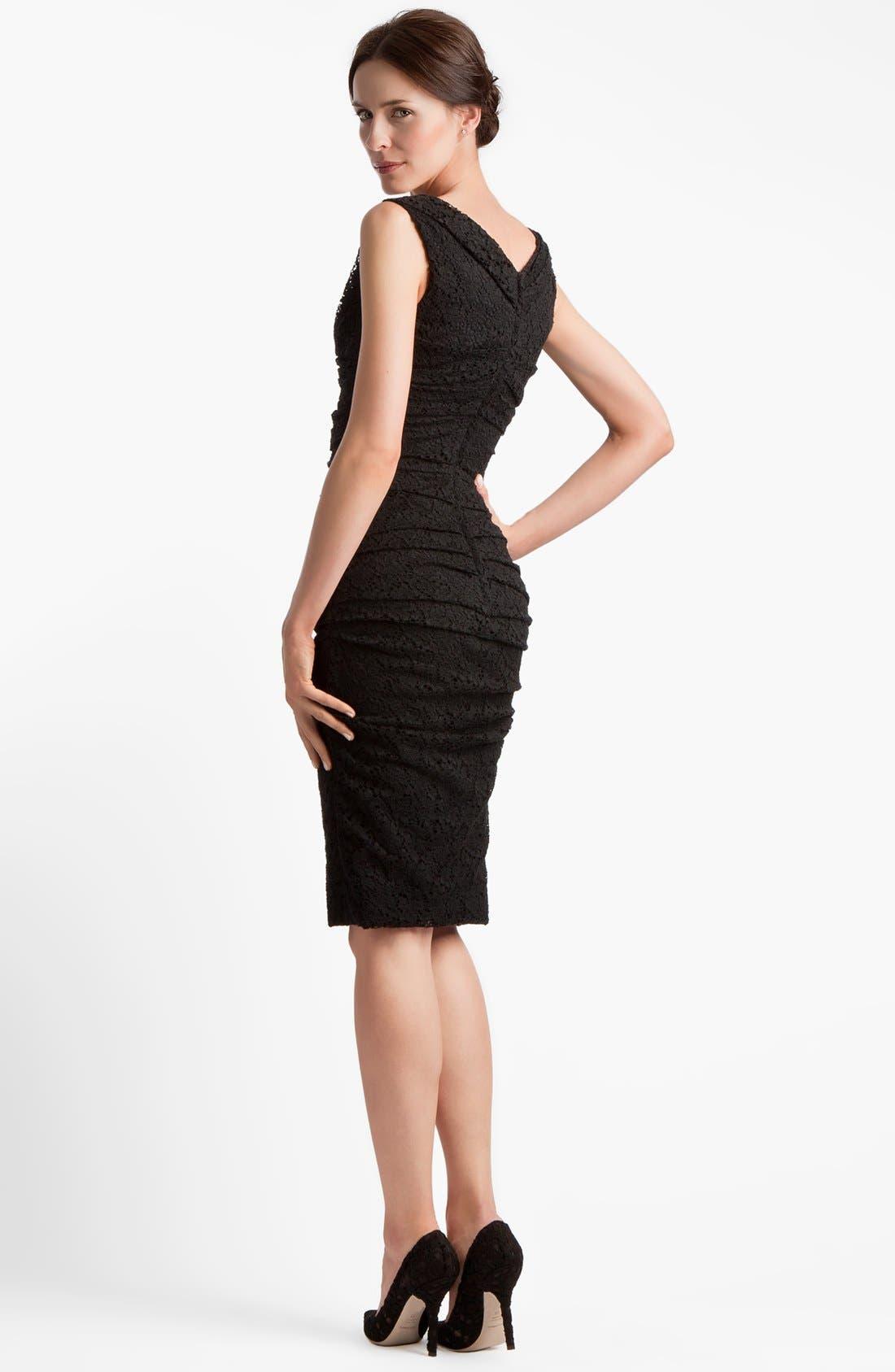 Alternate Image 2  - Dolce&Gabbana Ruched Stretch Lace Dress