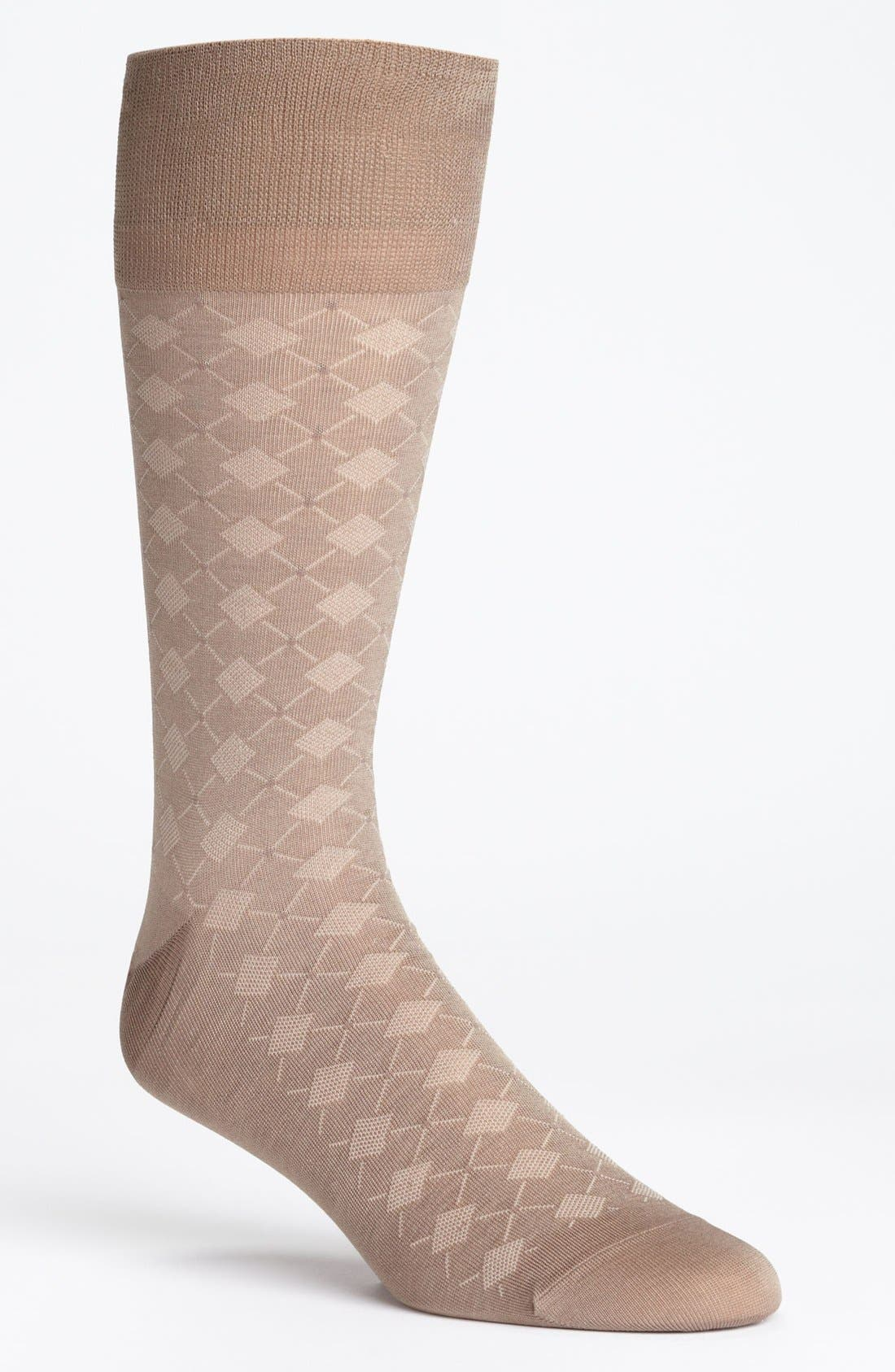 Alternate Image 1 Selected - John W. Nordstrom® Diamond Pattern Socks