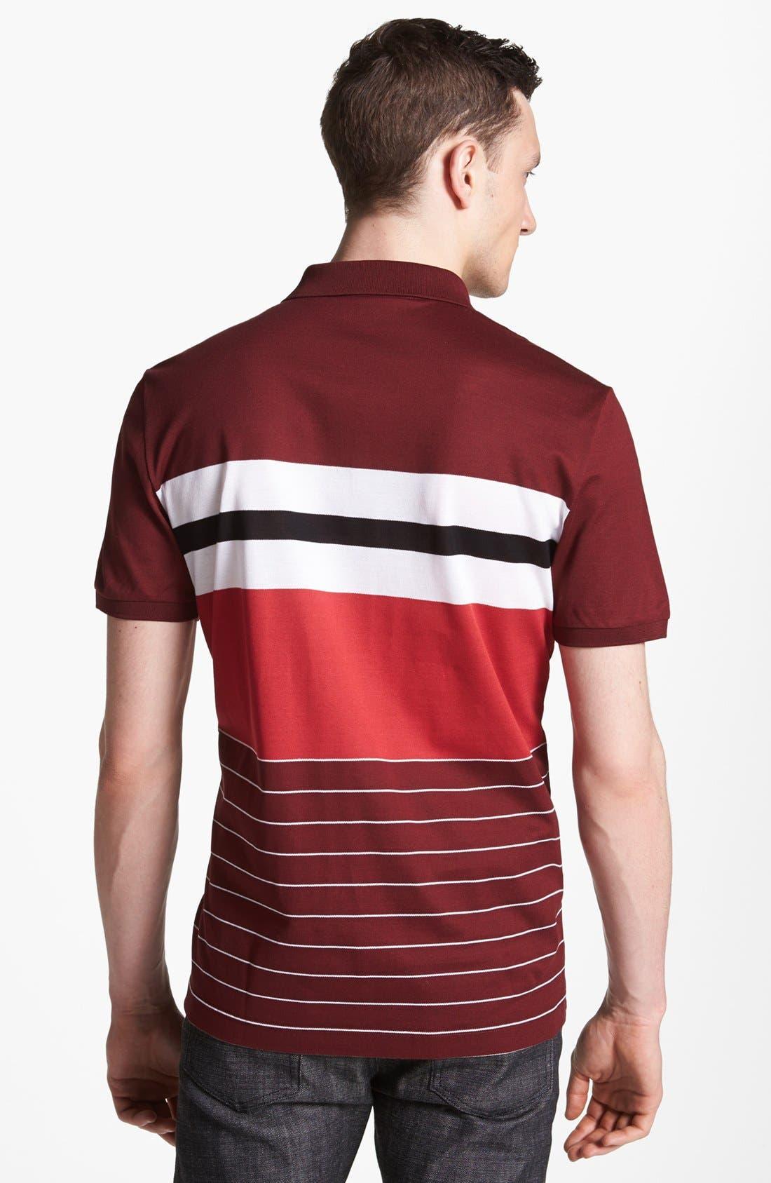 Alternate Image 2  - Salvatore Ferragamo Stripe Polo
