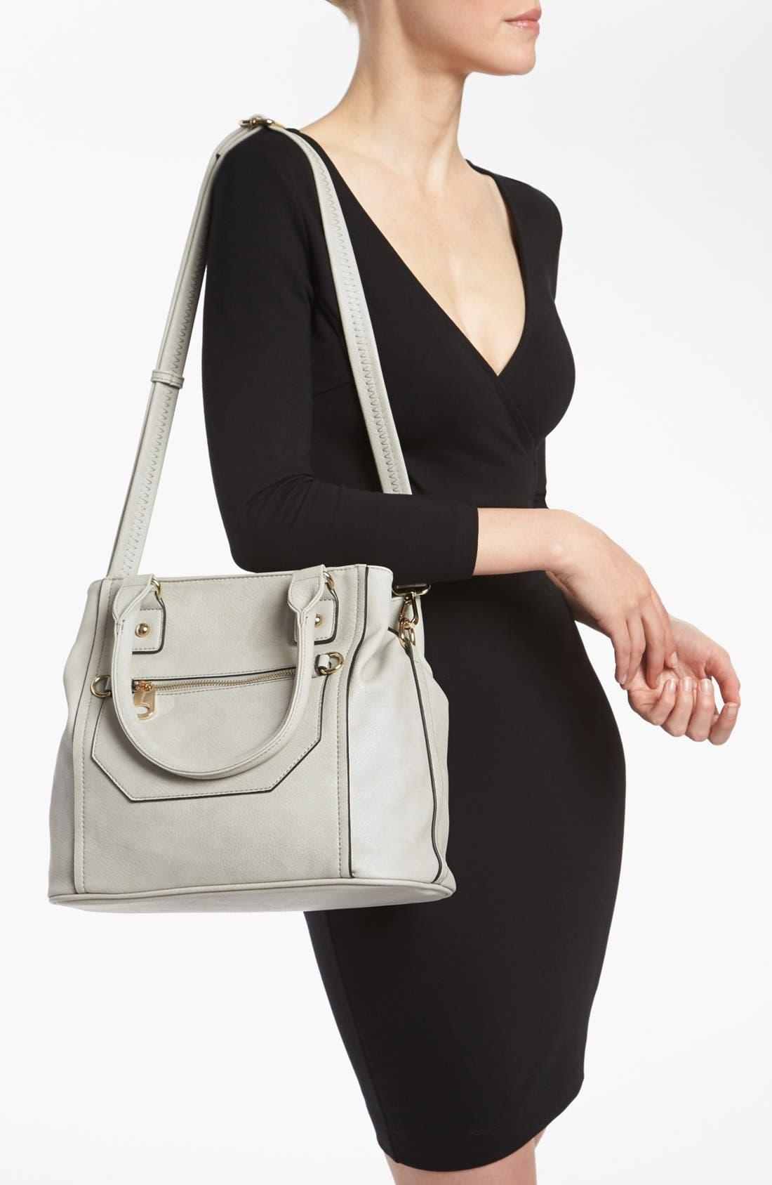 Alternate Image 2  - Emperia Zip Front Faux Leather Shoulder Bag