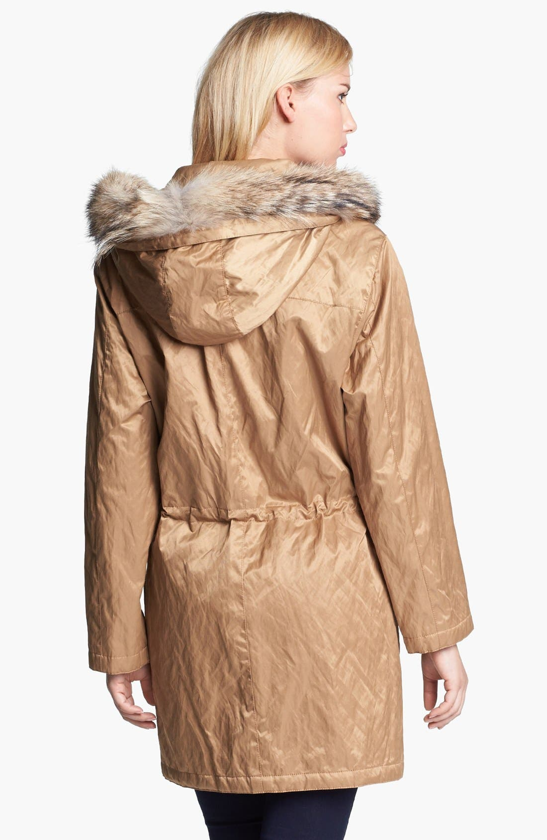 Alternate Image 2  - MICHAEL Michael Kors Hooded Anorak with Faux Fur Trim
