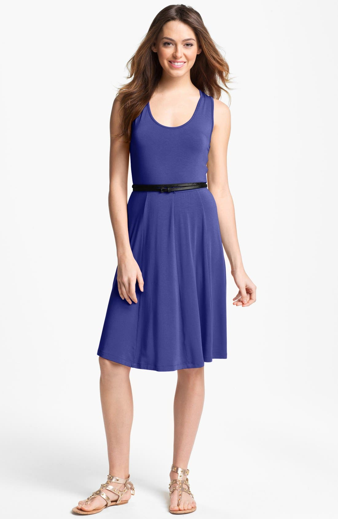 Alternate Image 1 Selected - Calvin Klein Sleeveless A-Line Dress