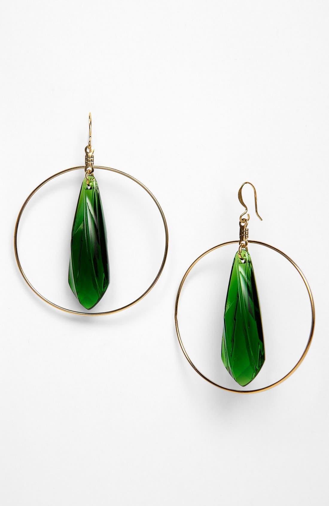 Alternate Image 1 Selected - Verdier Jewelry 'Vintage Lucite®' Hoop Earrings