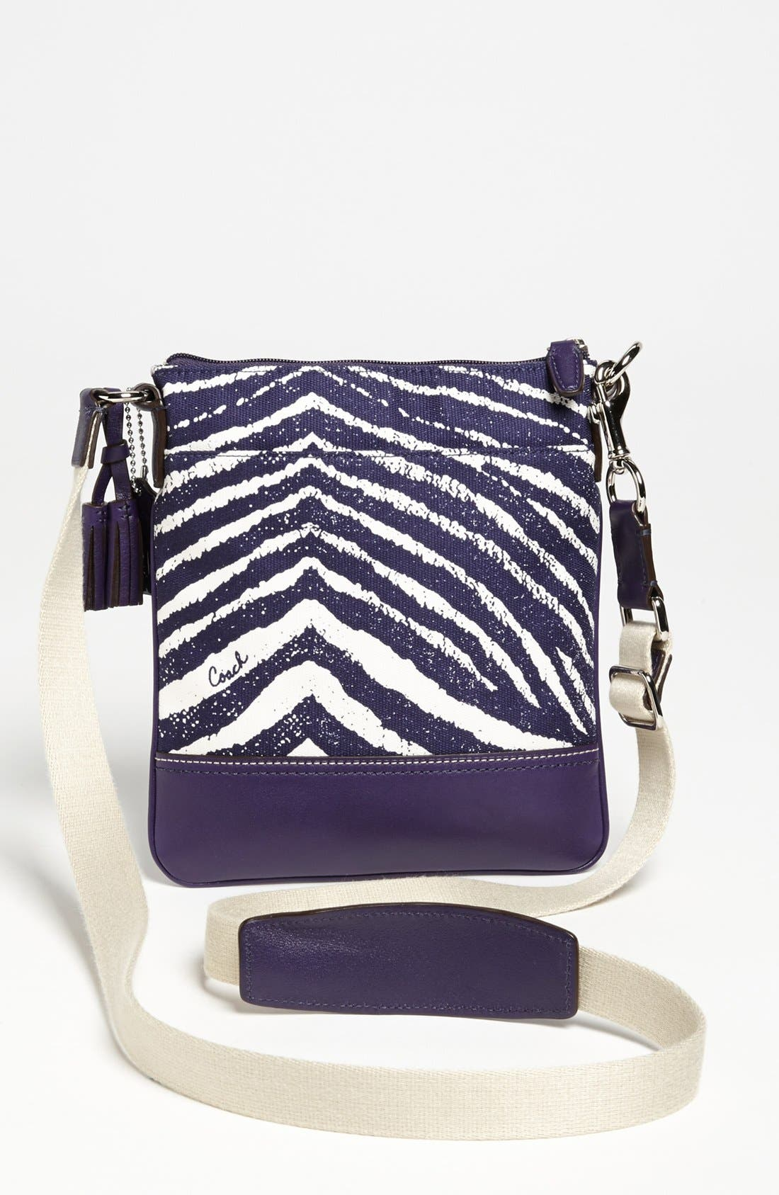 Alternate Image 4  - COACH 'Legacy - Swingpack' Zebra Print Crossbody Bag, Small