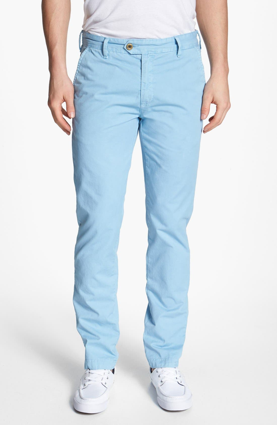 Alternate Image 1 Selected - Ted Baker London Flat Front Cotton Chinos