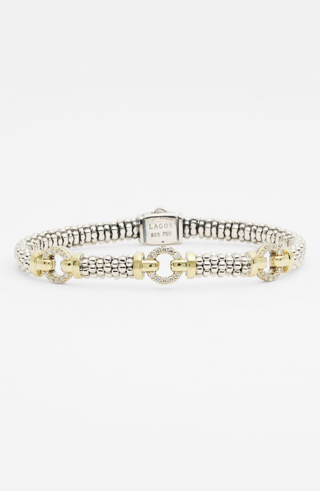 Main Image - Lagos Caviar™ Diamond 'O' Bracelet (Online Only)