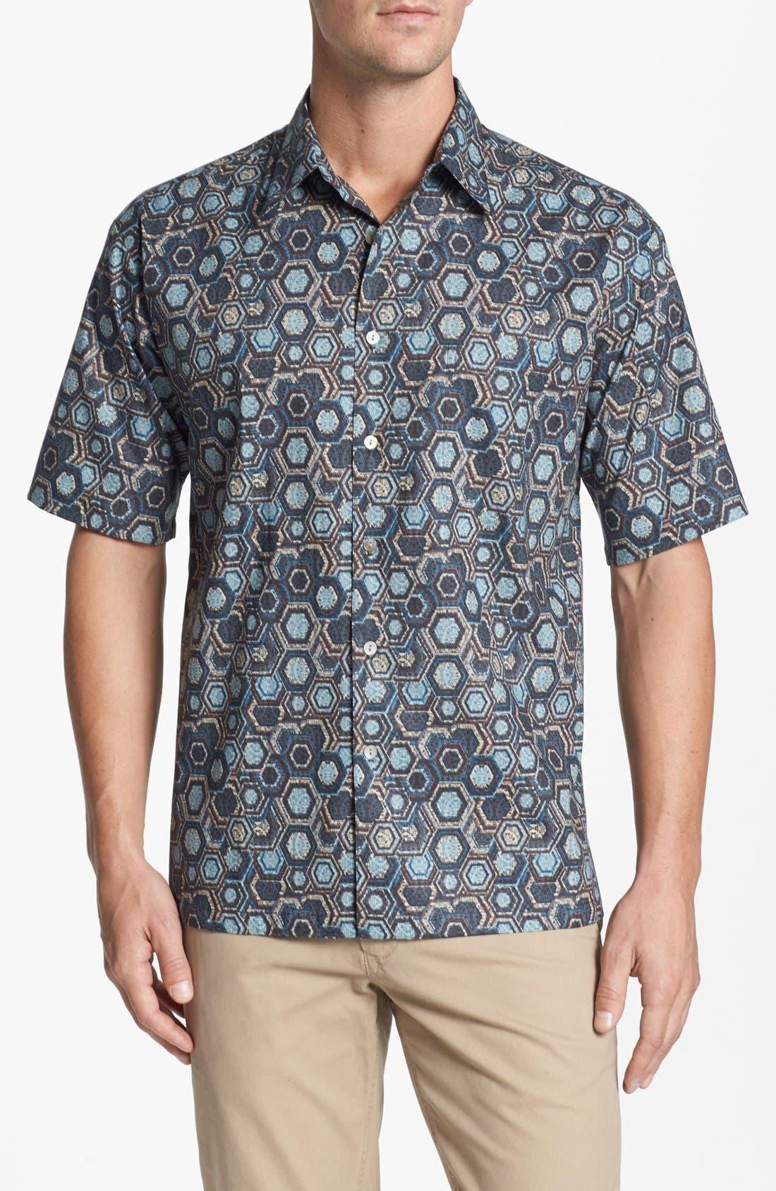 Alternate Image 1 Selected - Tori Richard 'Honeycomb II' Cotton Lawn Campshirt