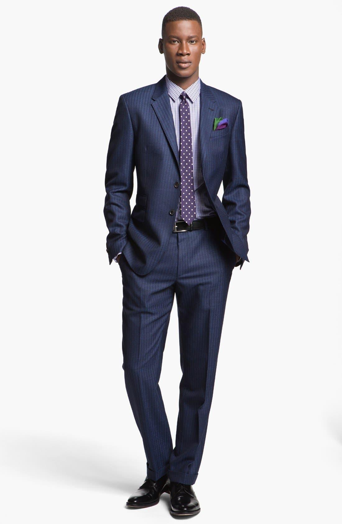 Alternate Image 1 Selected - Paul Smith London Slim Fit Stripe Wool Suit