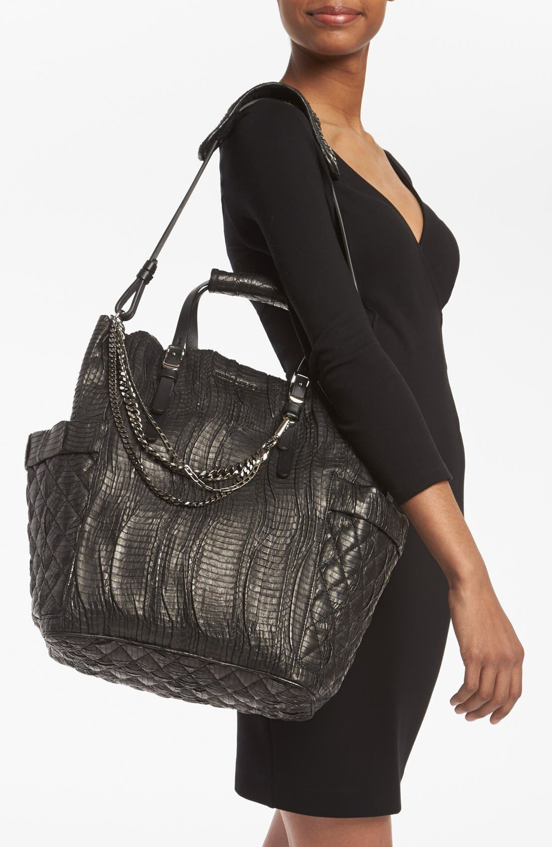 Alternate Image 2  - Jimmy Choo 'Blare' Genuine Snakeskin Tote