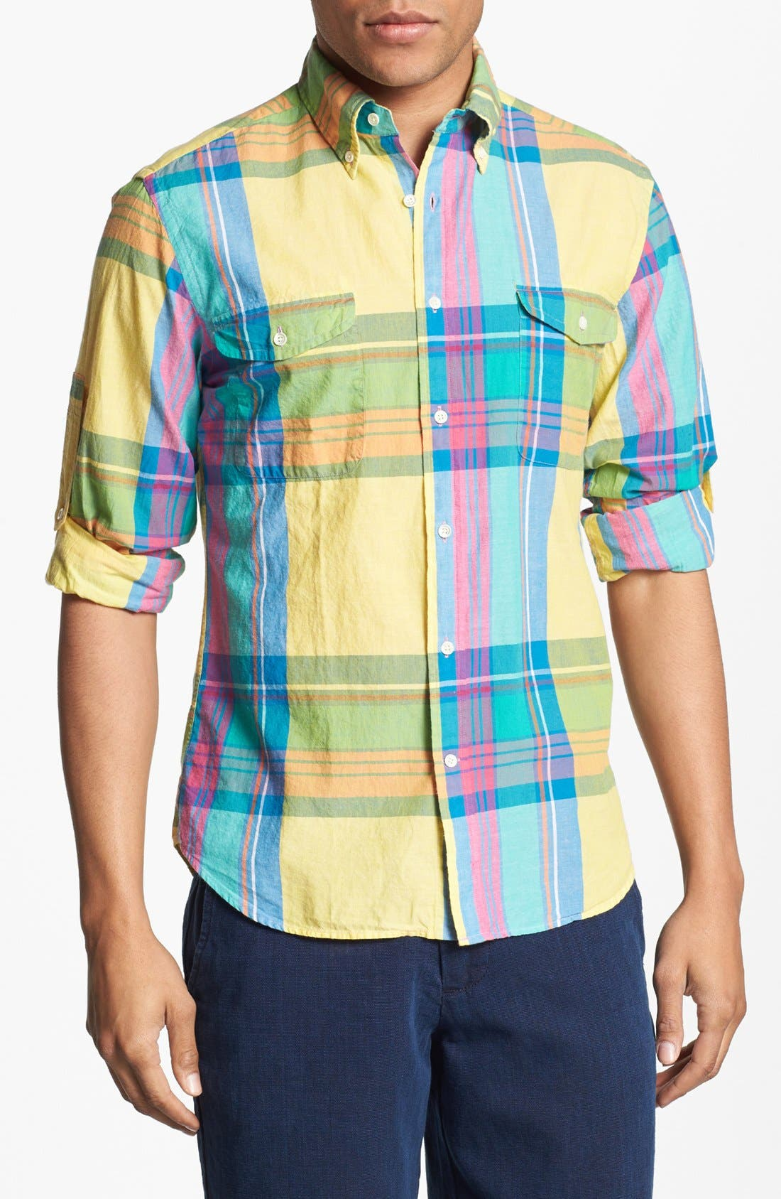 Alternate Image 1 Selected - Gant Rugger Plaid Woven Shirt