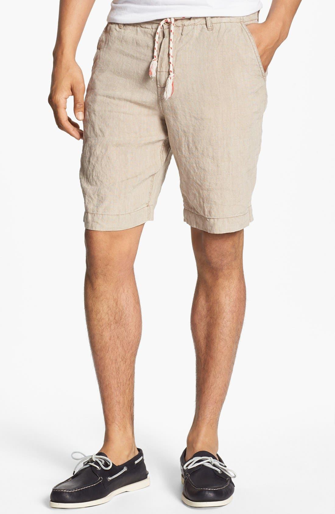 Main Image - Shirt by Shirt 'Guam' Linen Shorts