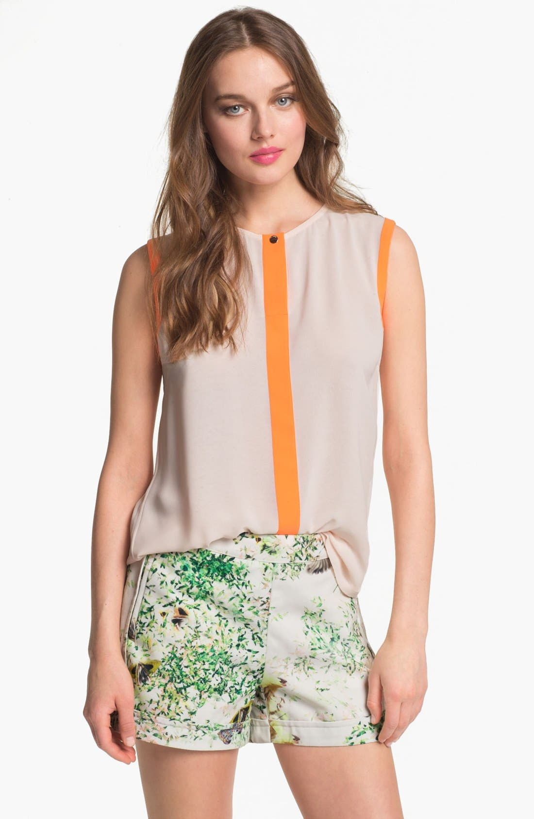 Main Image - Ted Baker London 'Chicah' Colorblock Top