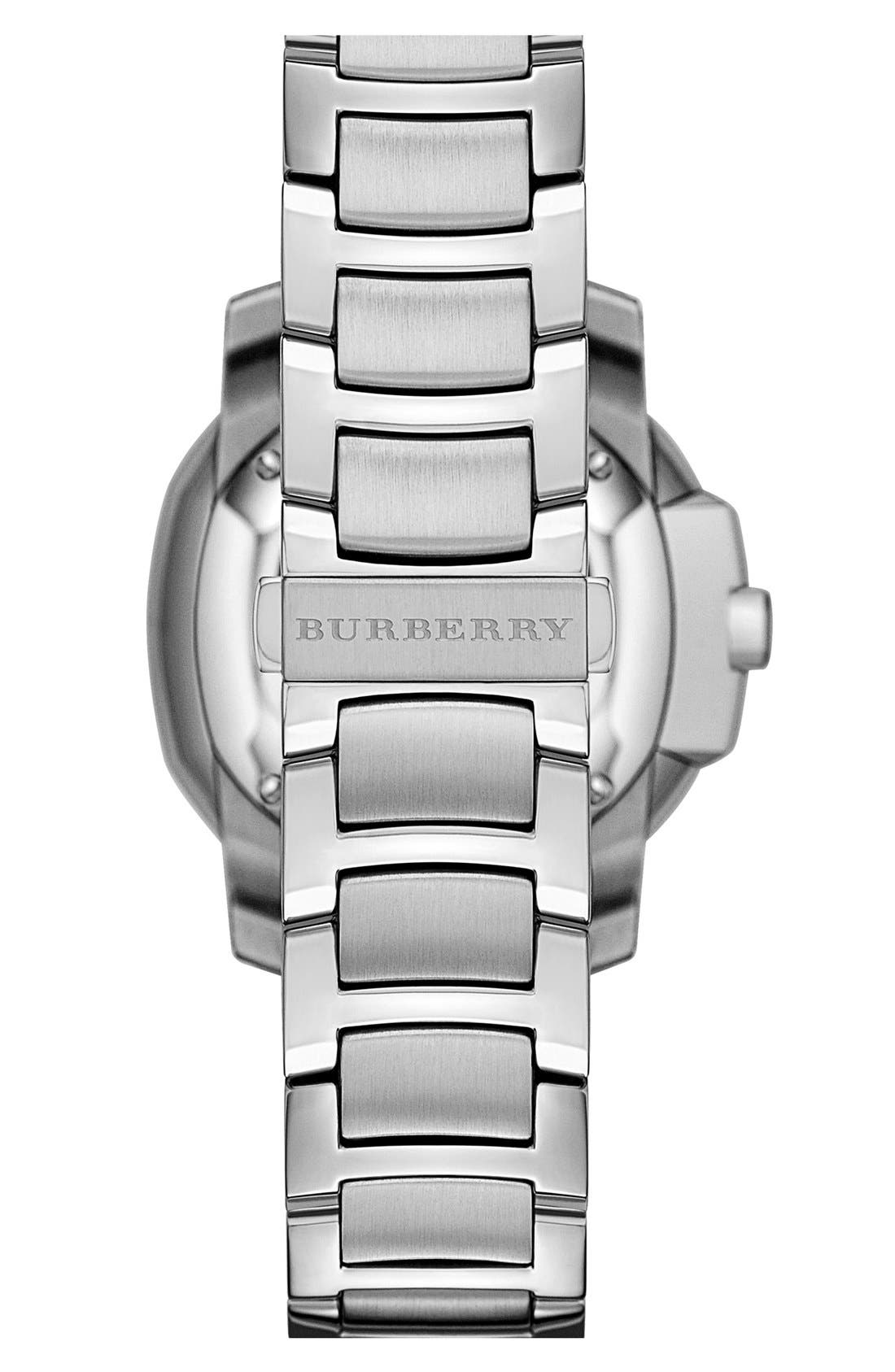 Alternate Image 3  - Burberry The Britain Mother-of-Pearl Bracelet Watch, 34mm