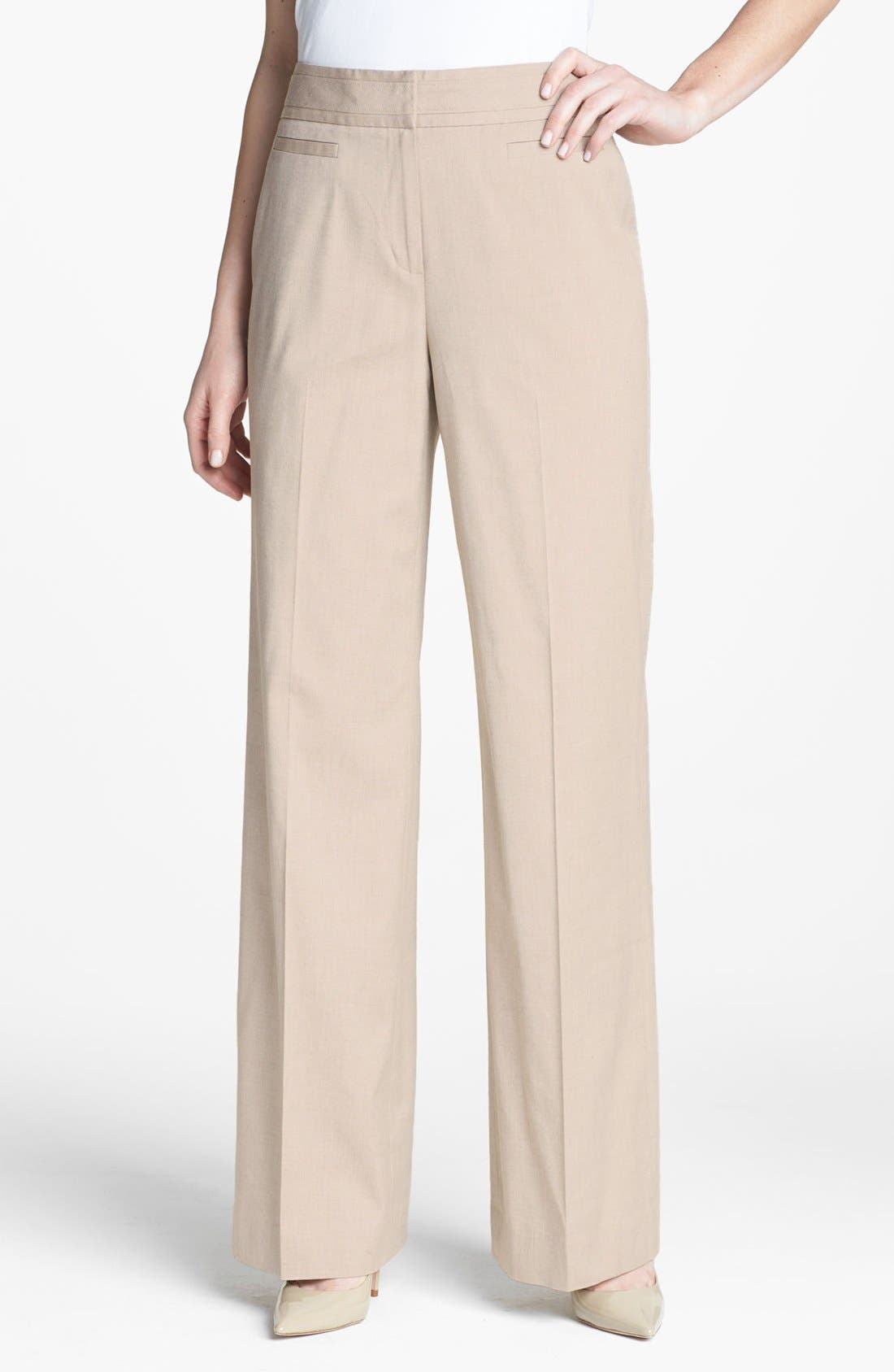 Alternate Image 1 Selected - Classiques Entier® 'Chic Twill' High Waist Pants