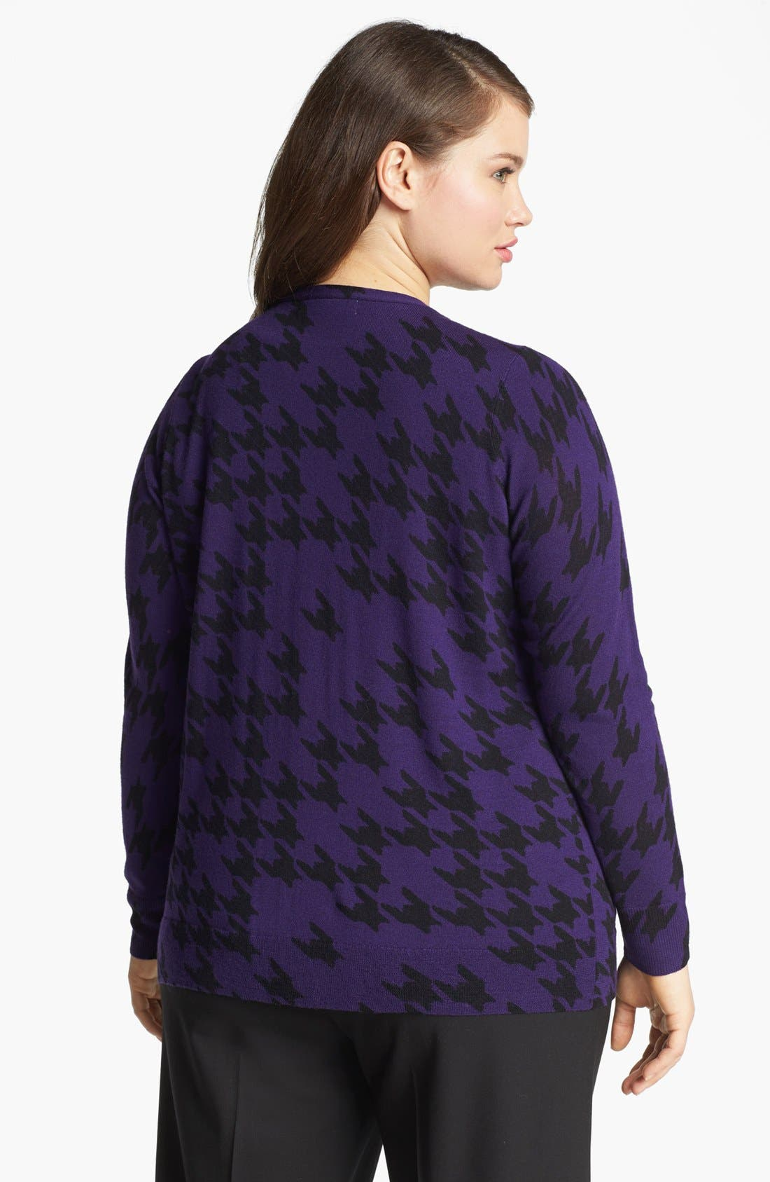 Alternate Image 2  - Sejour 'Fine Dine' Merino Wool Cardigan (Plus Size)