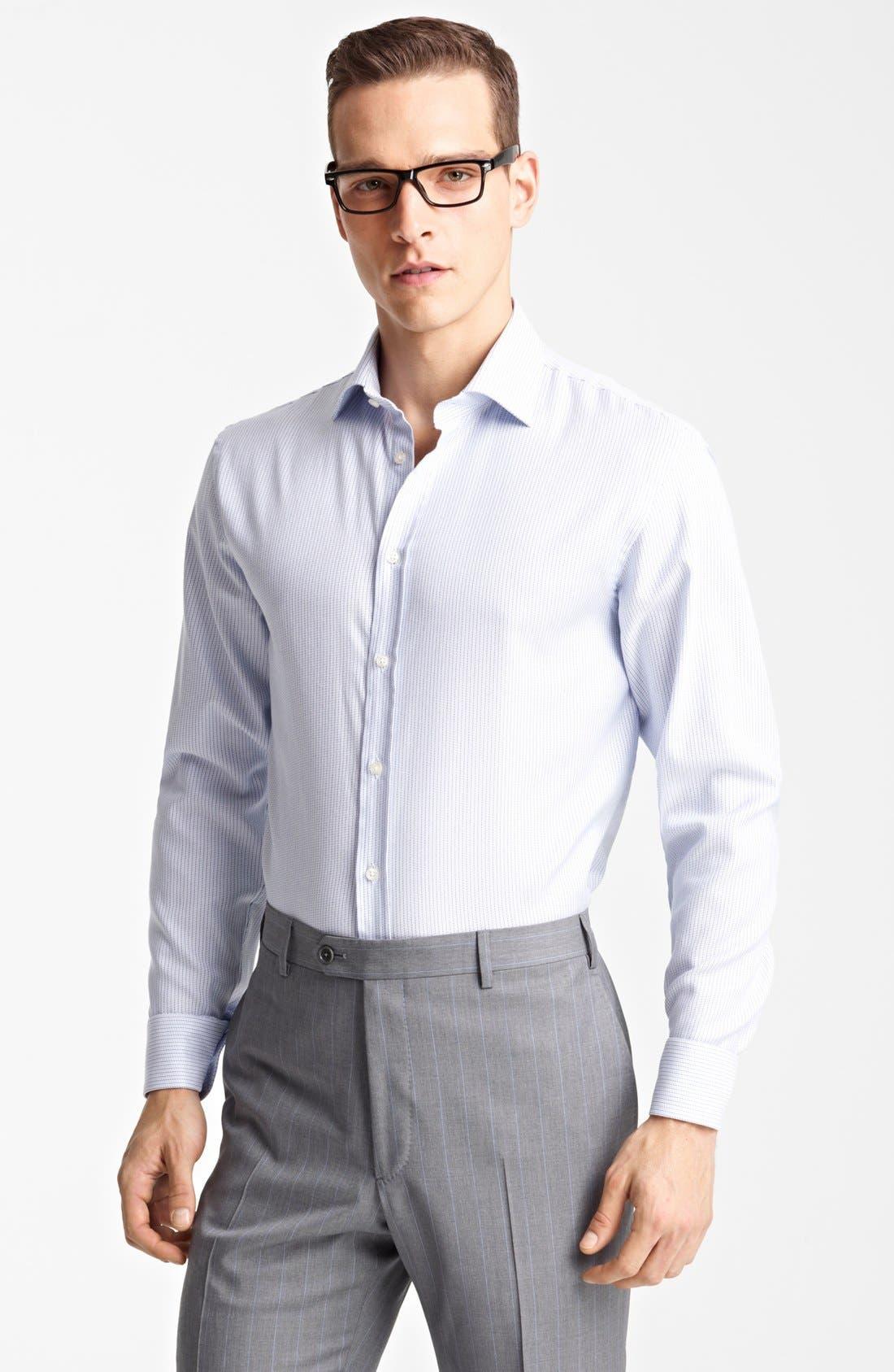 Main Image - Armani Collezioni Microstripe Dress Shirt