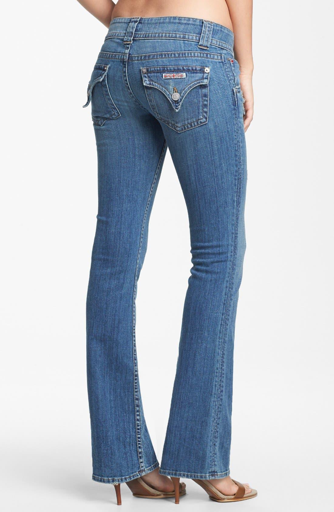 Alternate Image 2  - Hudson Jeans Triangle Pocket Bootcut Stretch Jeans (Vintage Napoli) (Petite)