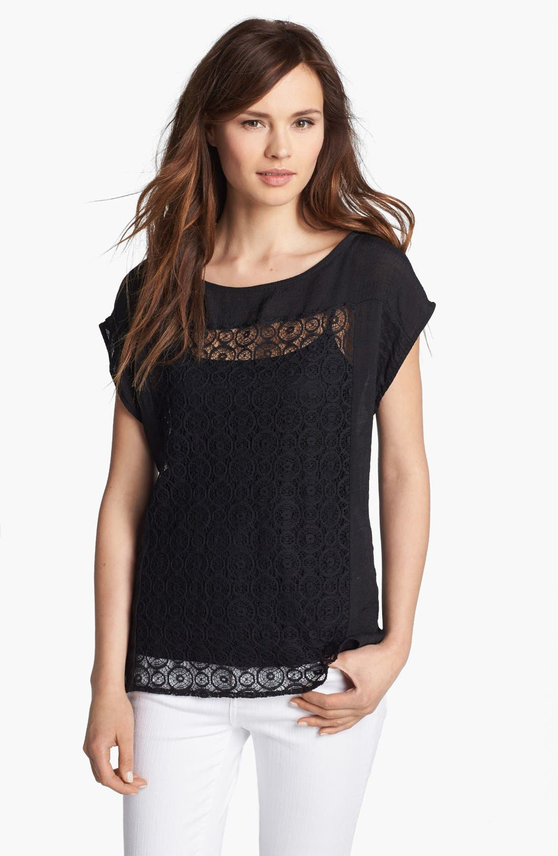 Alternate Image 1 Selected - MOD.lusive Lace Panel Top