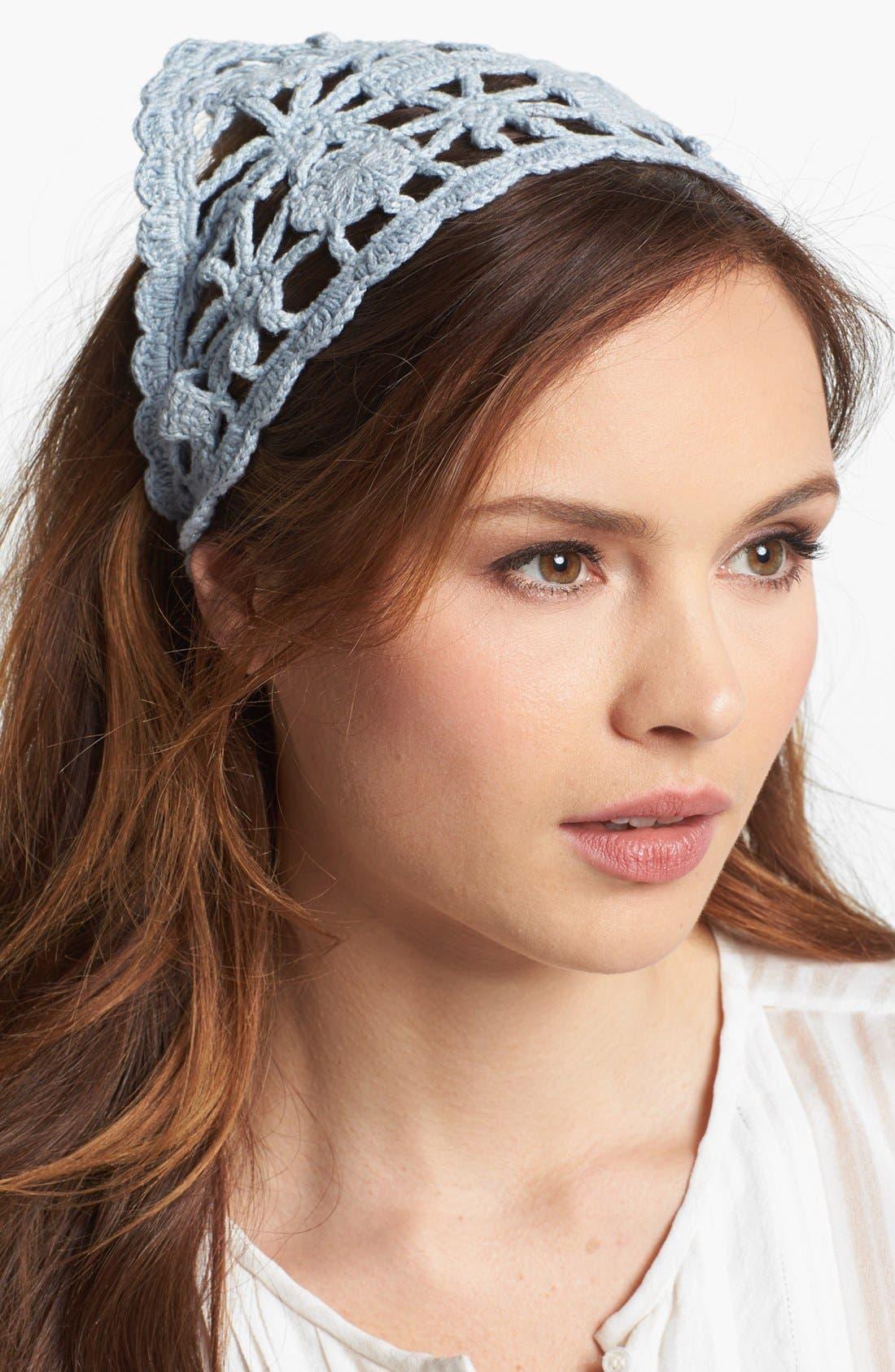 Main Image - Hinge® Crocheted Head Scarf