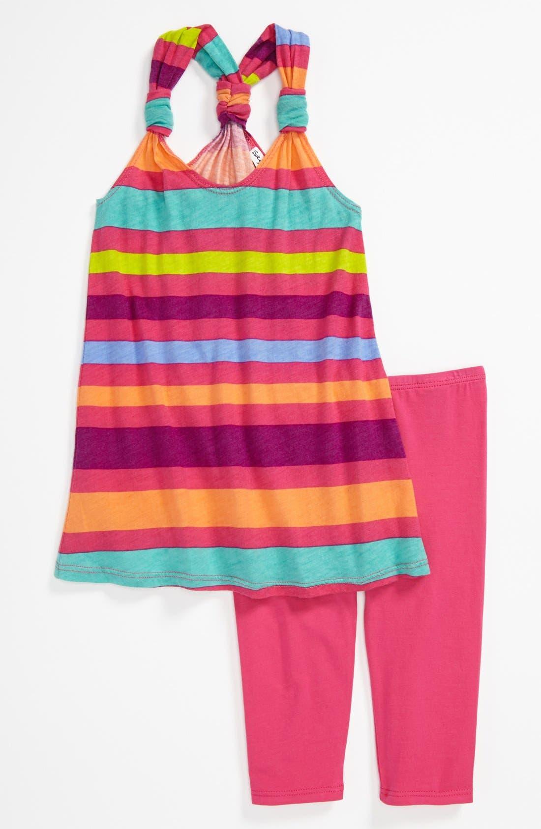 Main Image - Splendid 'Carnival Stripe' Tank Top & Leggings (Toddler)