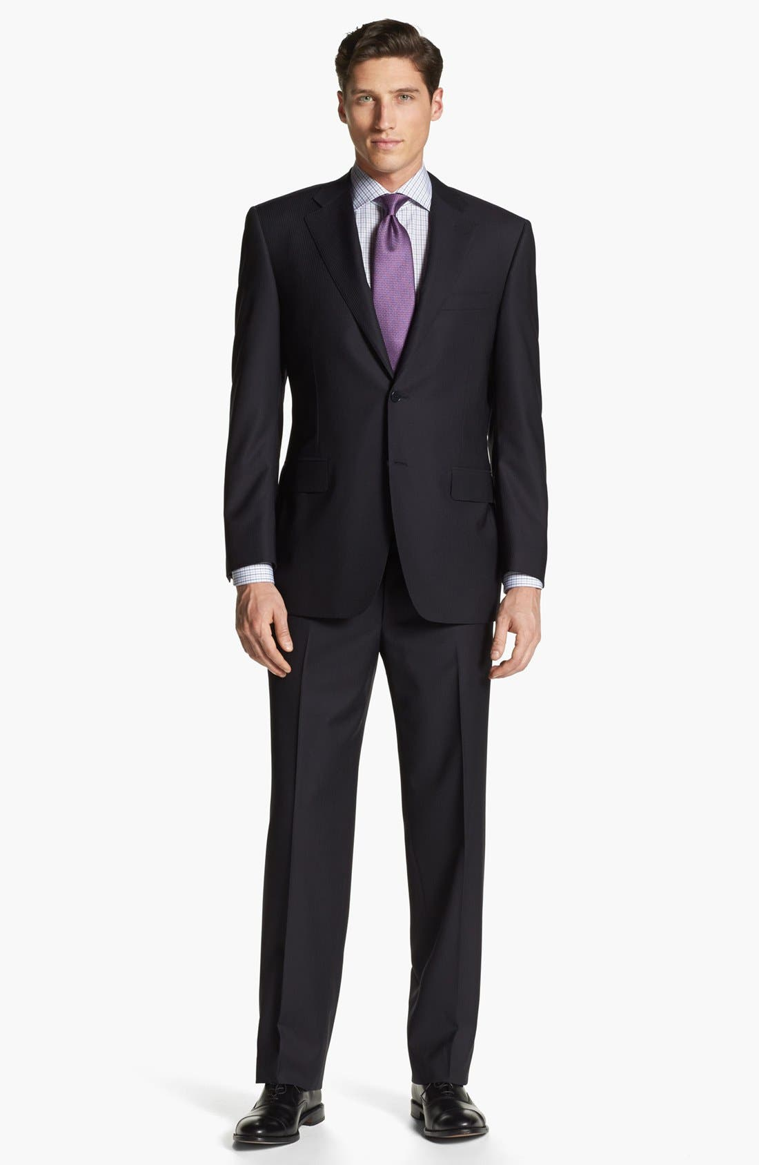 Alternate Image 1 Selected - Canali Stripe Wool Suit