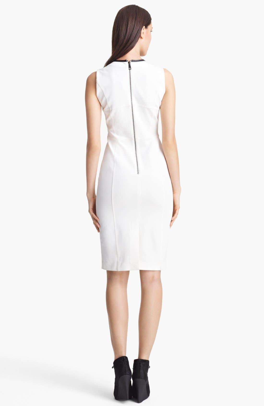 Alternate Image 2  - Burberry London Leather Trim Jersey Dress