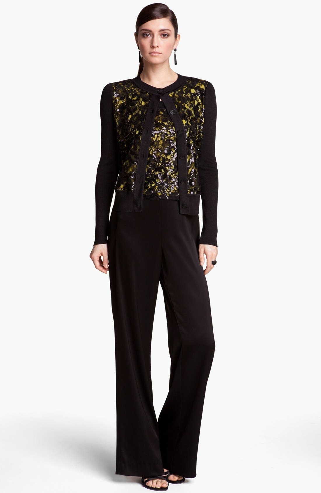 Alternate Image 2  - St. John Collection Sequin Lace & Shimmer Knit Cardigan