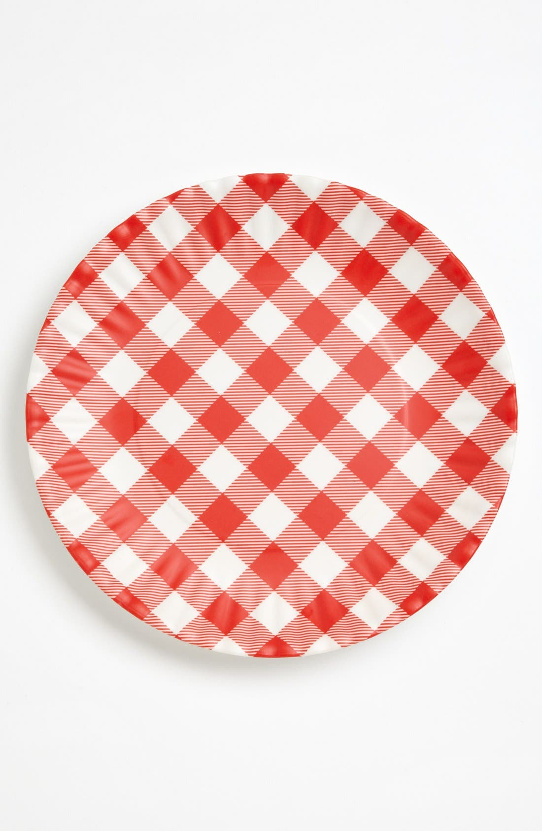 Alternate Image 2  - Gingham Melamine Plates (Set of 4)