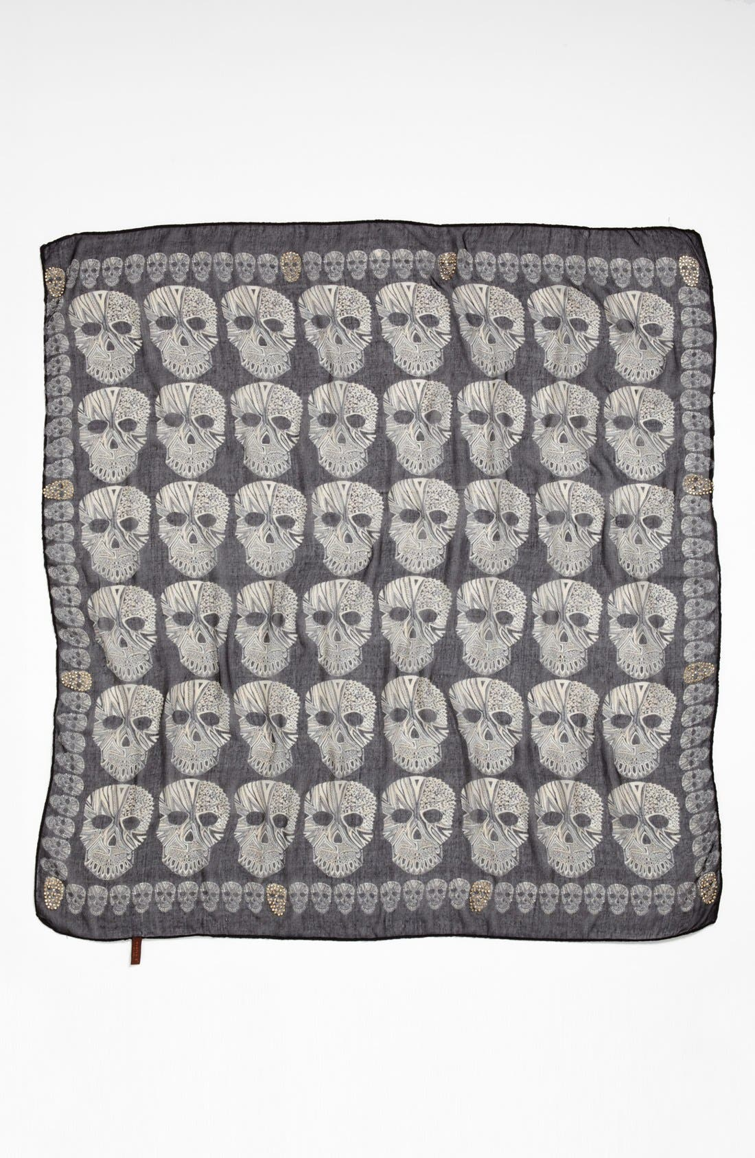 Alternate Image 2  - Evelyn K 'Skull Stone' Square Scarf